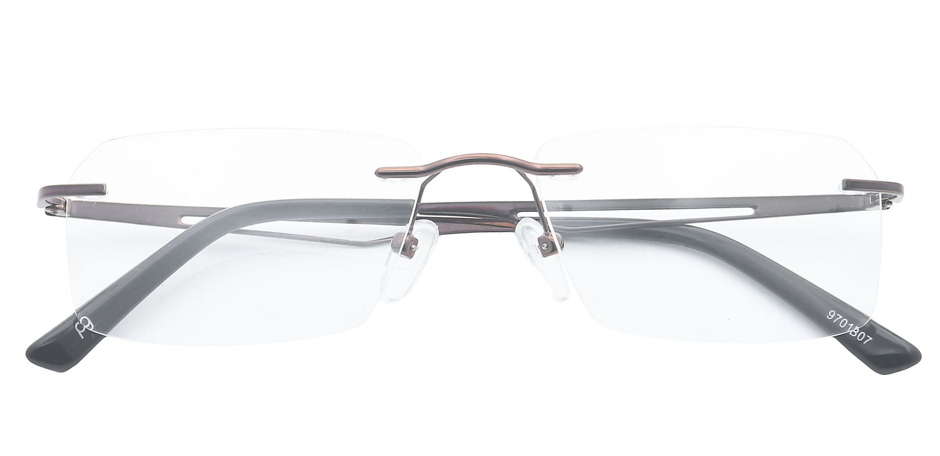 Finesse Rimless Reading Glasses - Brown
