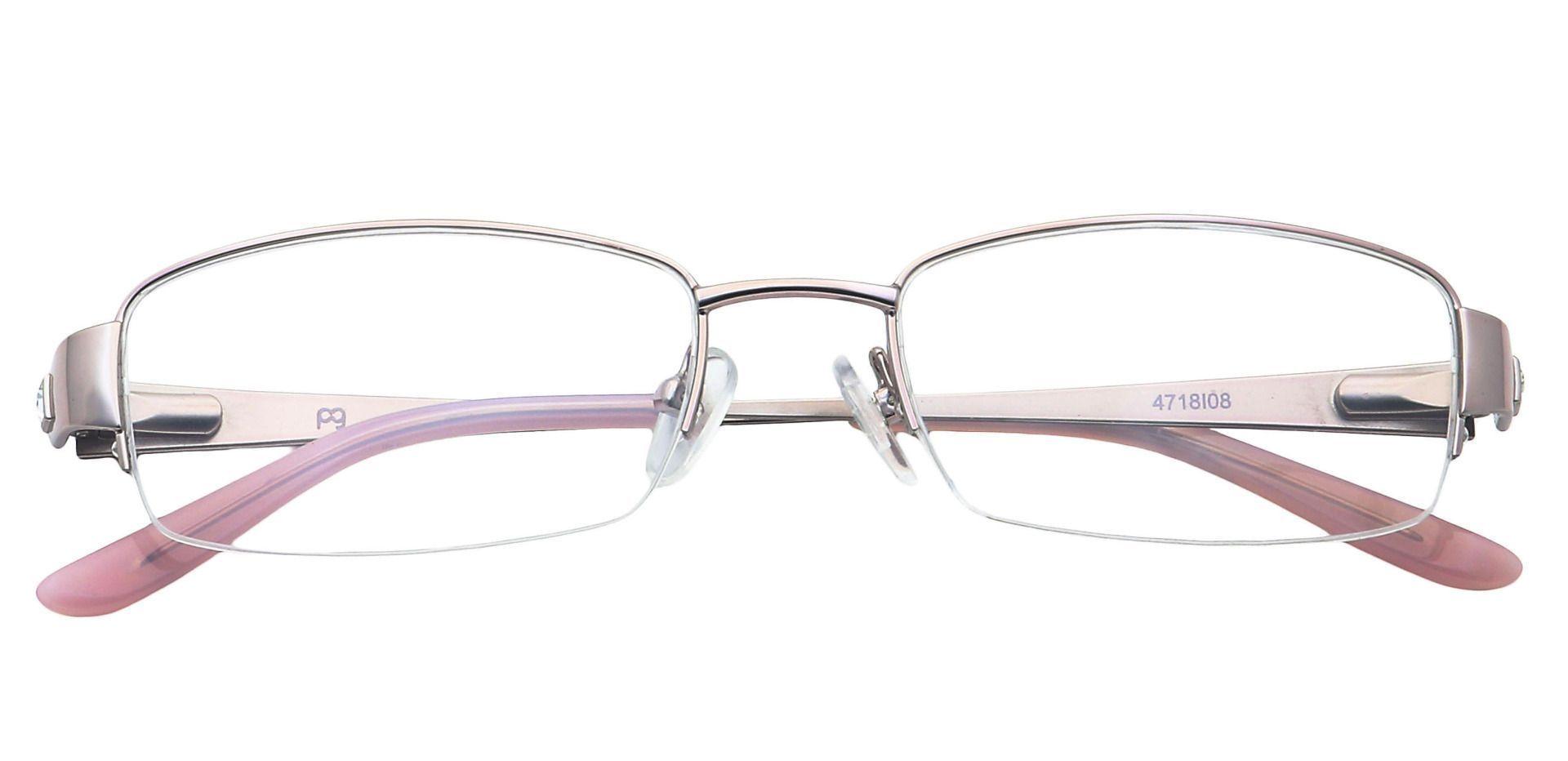 Gianna Rectangle Eyeglasses Frame - Pink