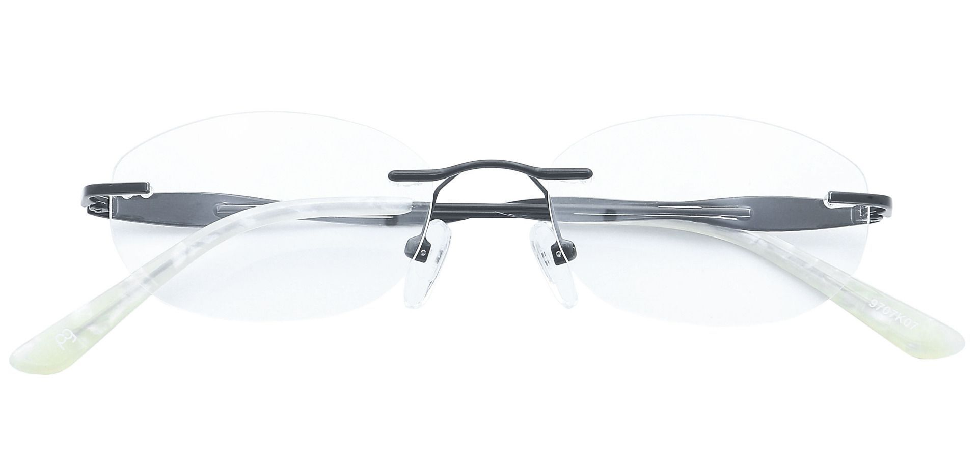 Greta Rimless Lined Bifocal Glasses - Black