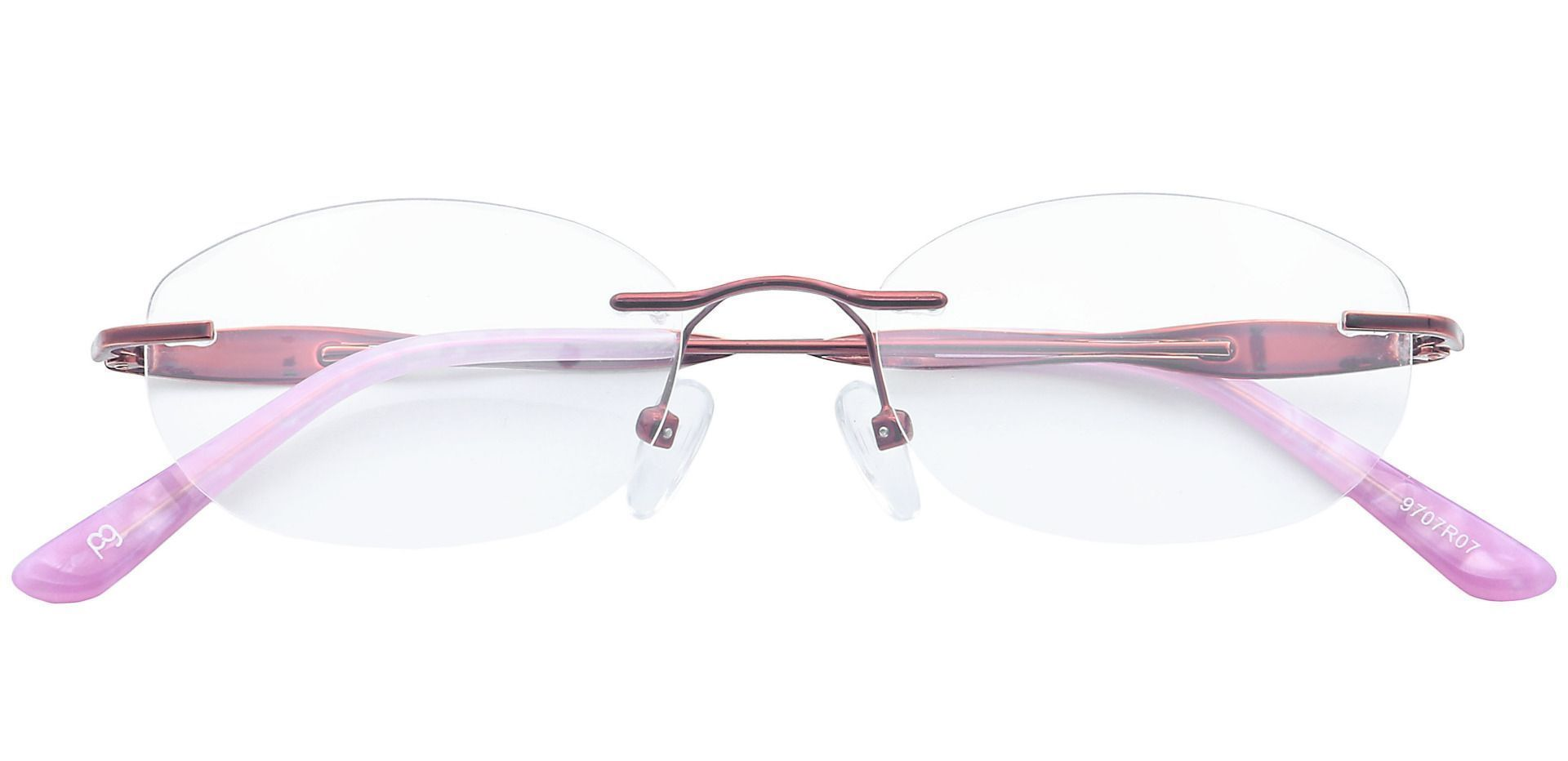 Greta Rimless Non-Rx Glasses - Red