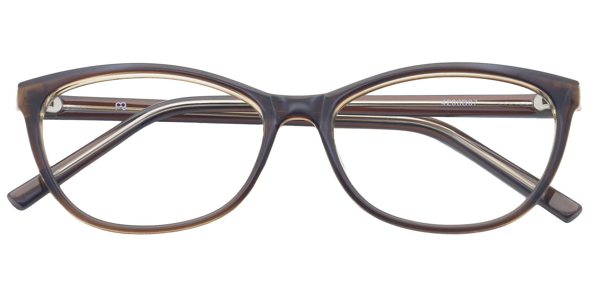 Sally Oval Reading Glasses - Brown