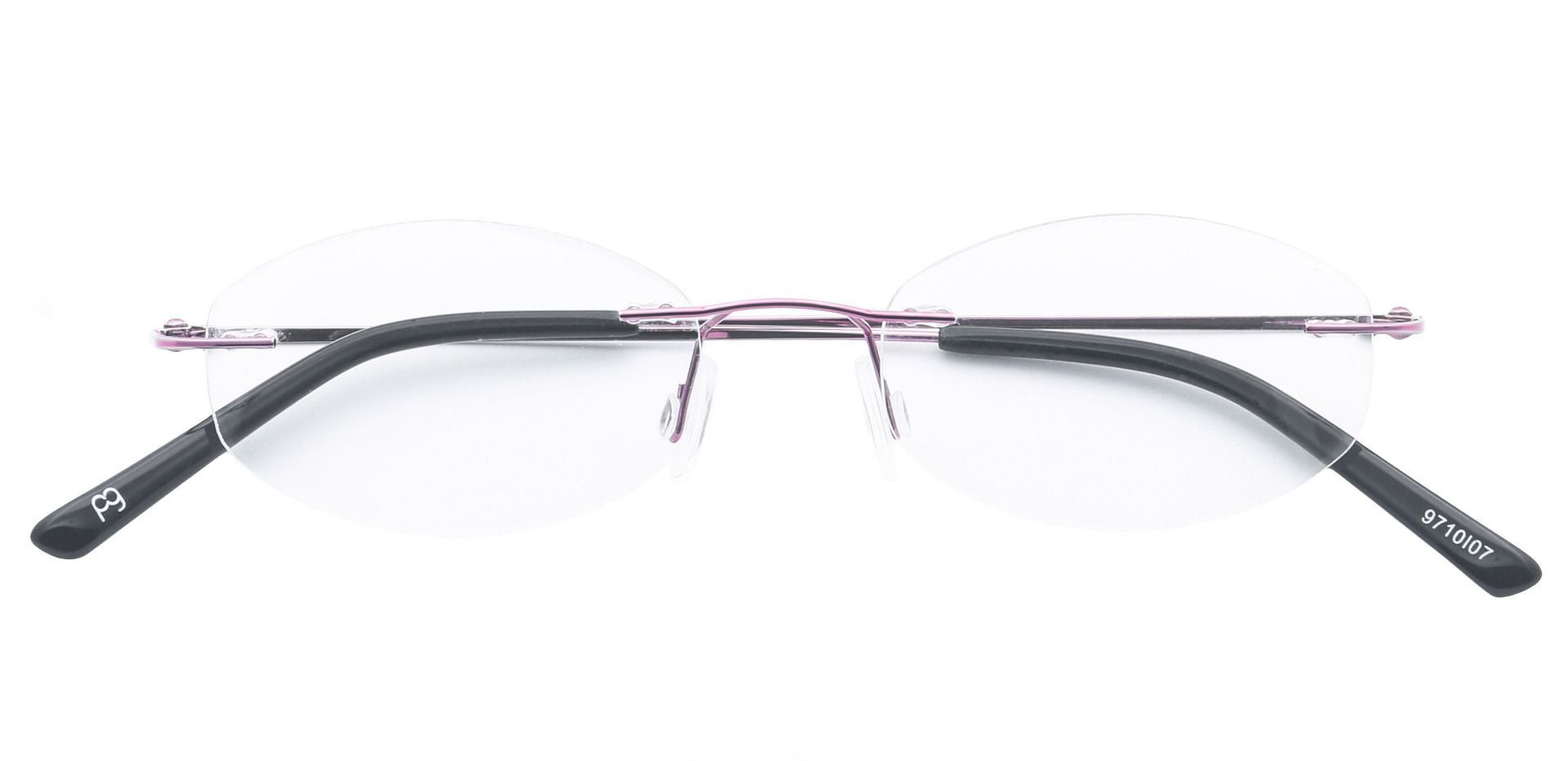 Abigail Rimless Blue Light Blocking Glasses - Pink