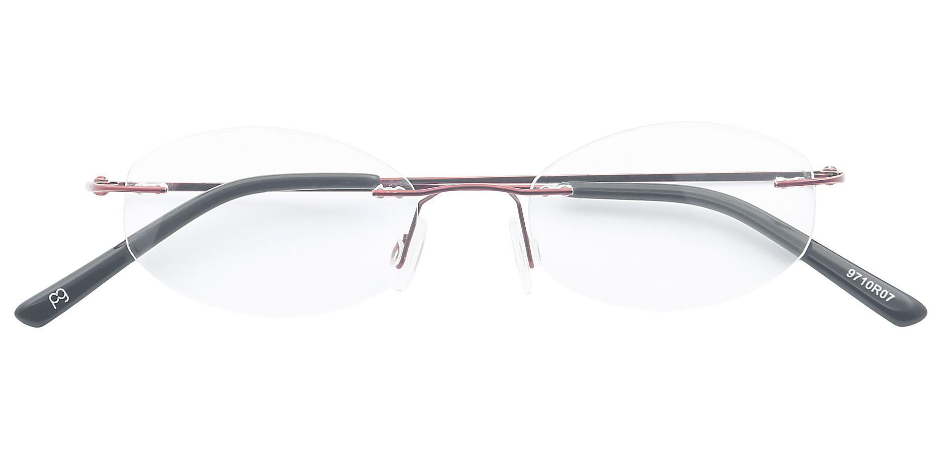 Abigail Rimless Blue Light Blocking Glasses - Red