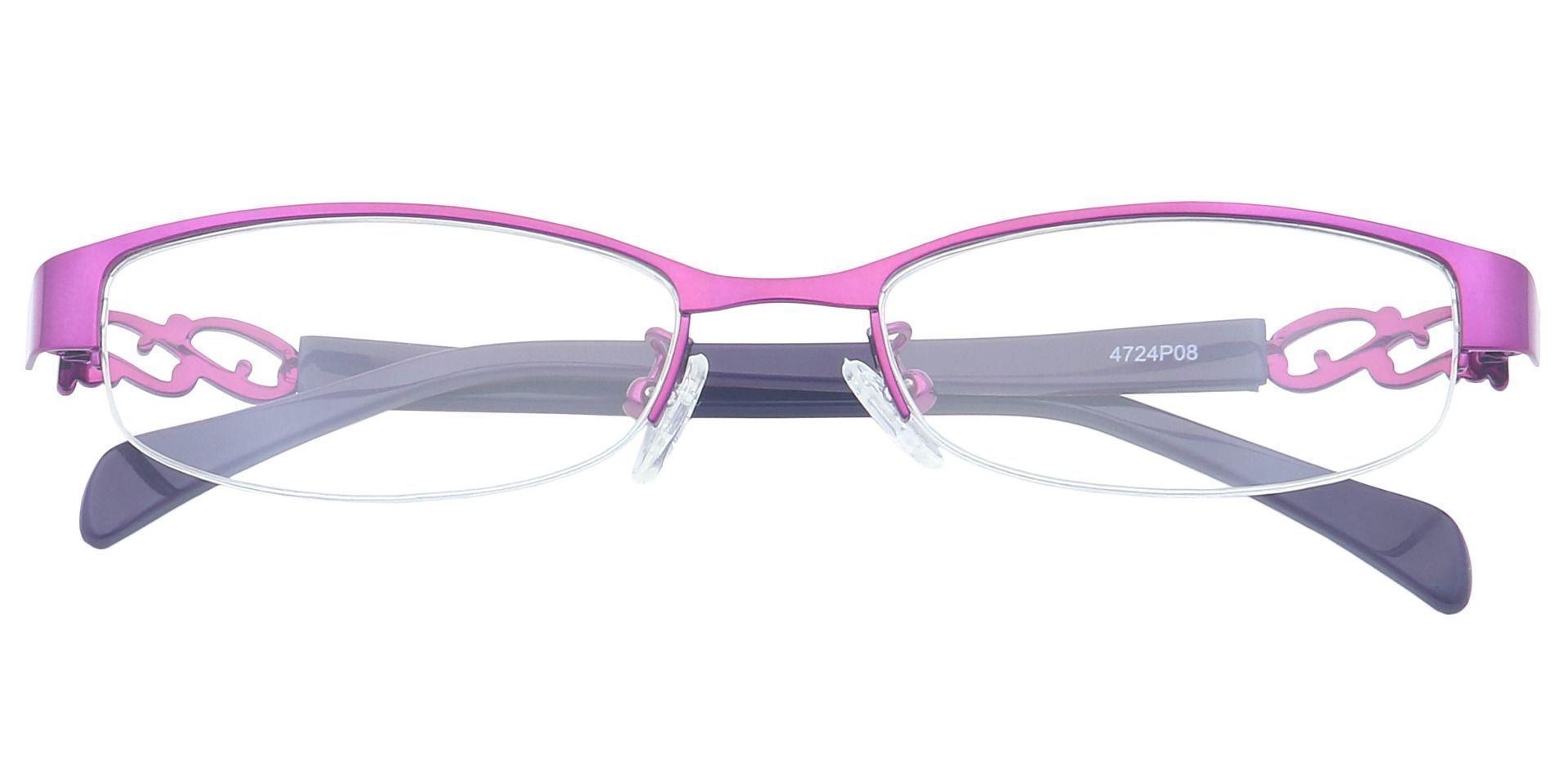 Danae Oval Single Vision Glasses - Purple