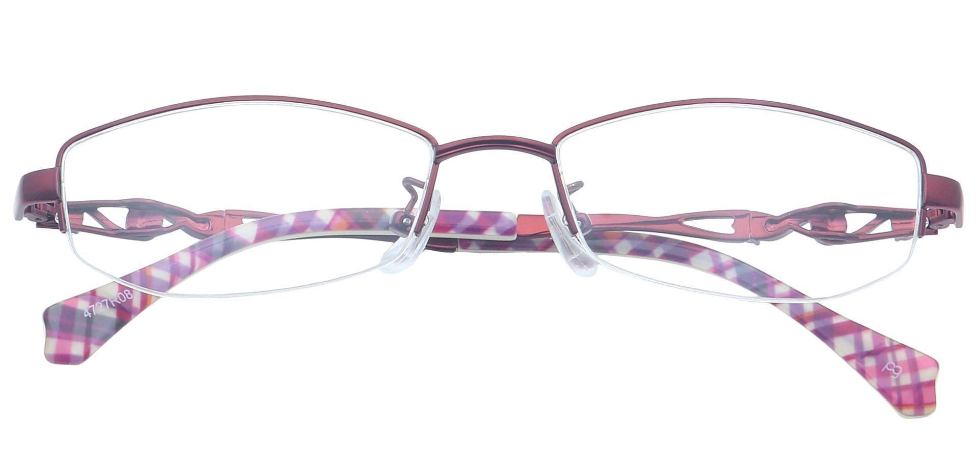 Arden Rectangle Blue Light Blocking Glasses - Red