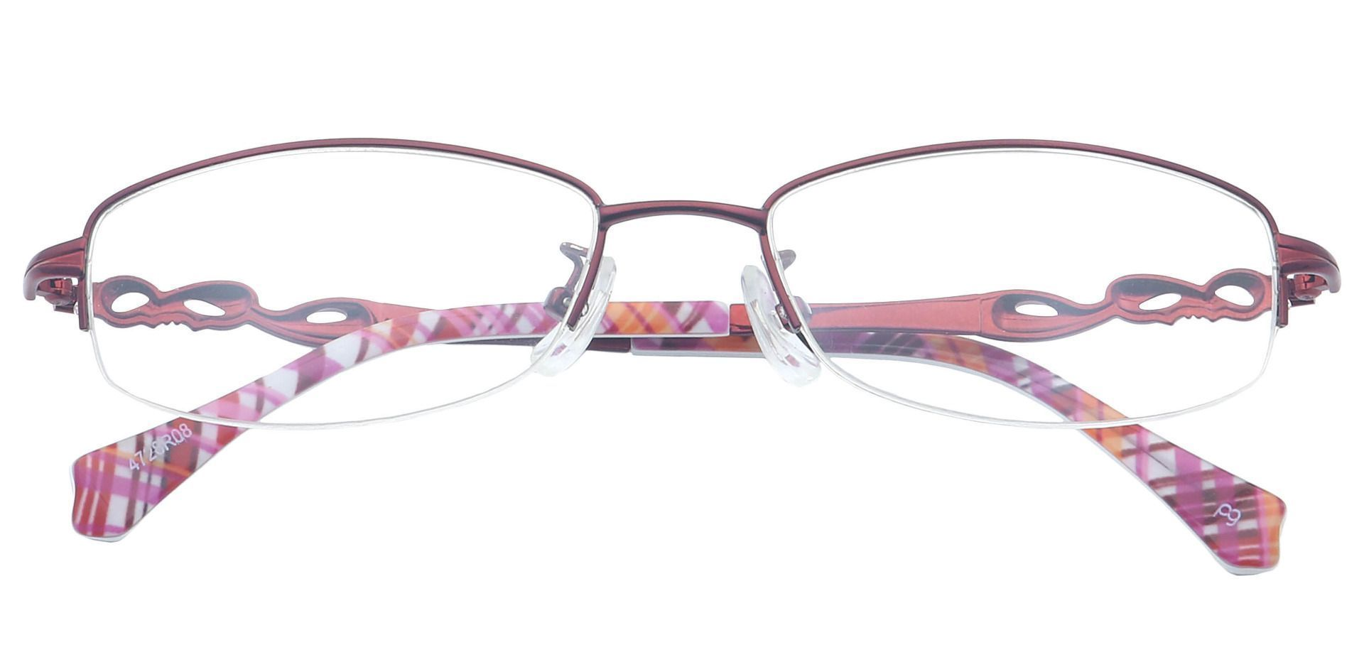 Deana Rectangle Non-Rx Glasses - Red