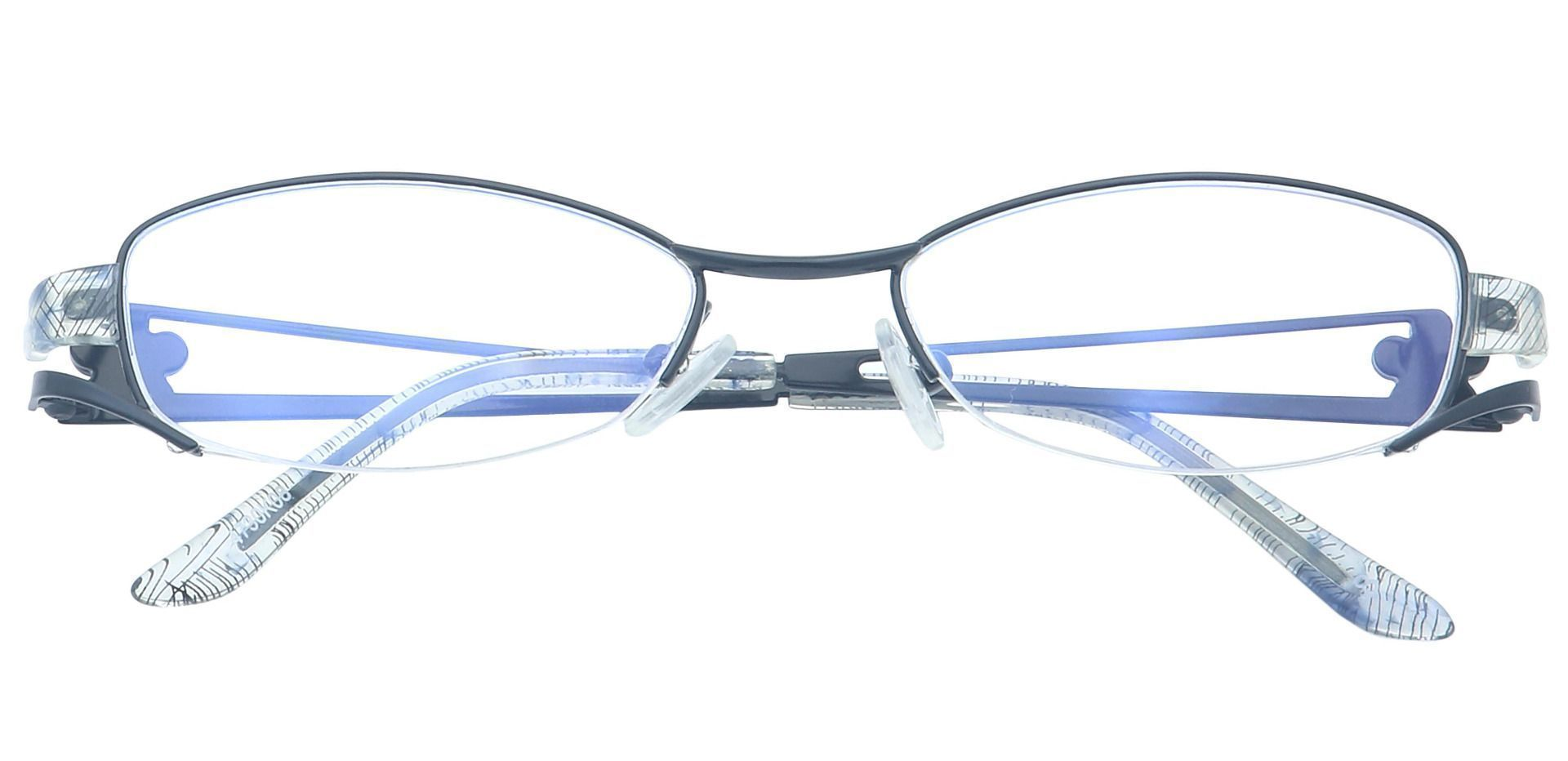 Sandra Oval Single Vision Glasses - Black