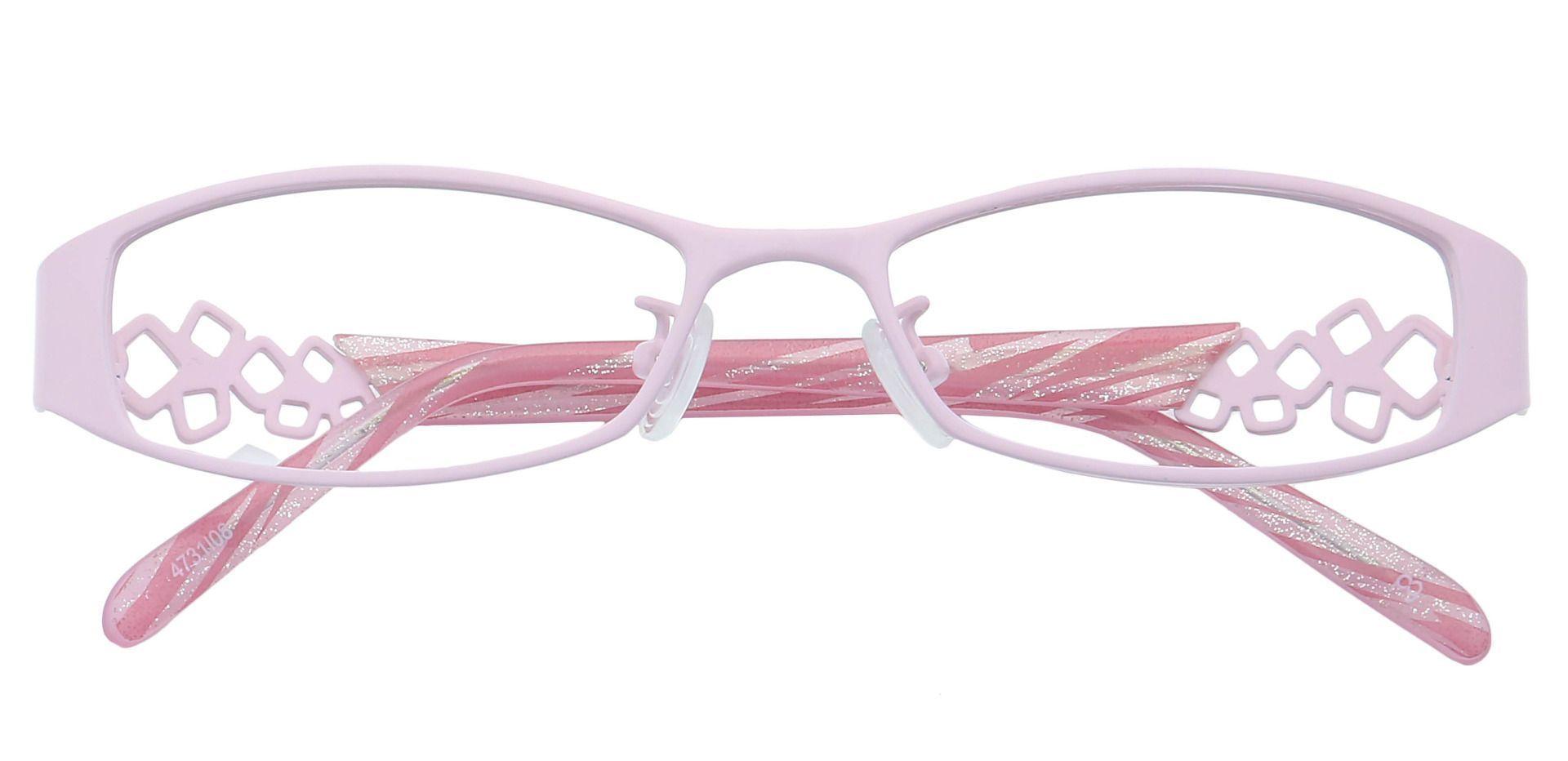 Flora Oval Single Vision Glasses - Pink