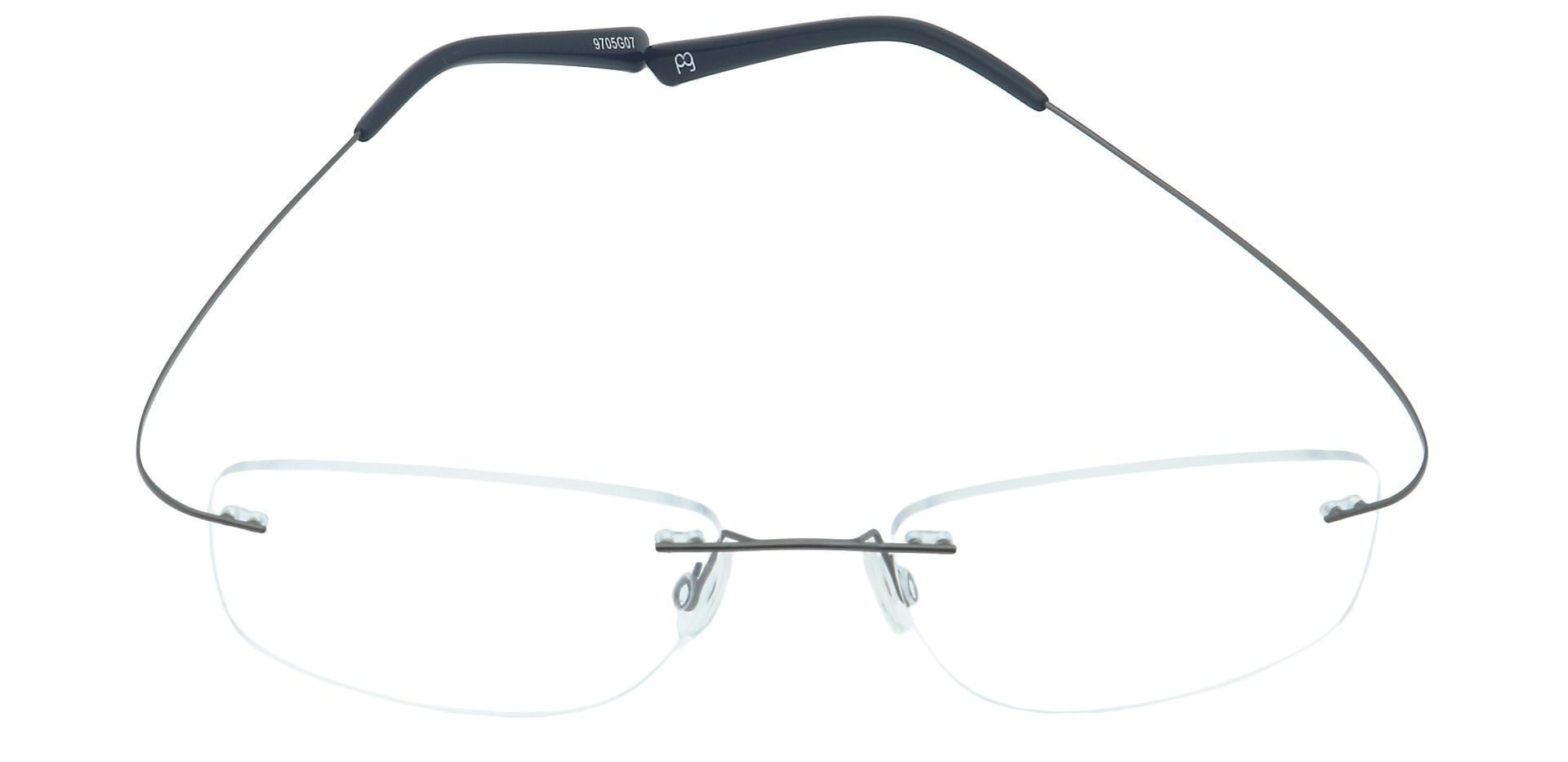 Jennie Rimless Reading Glasses - Gray
