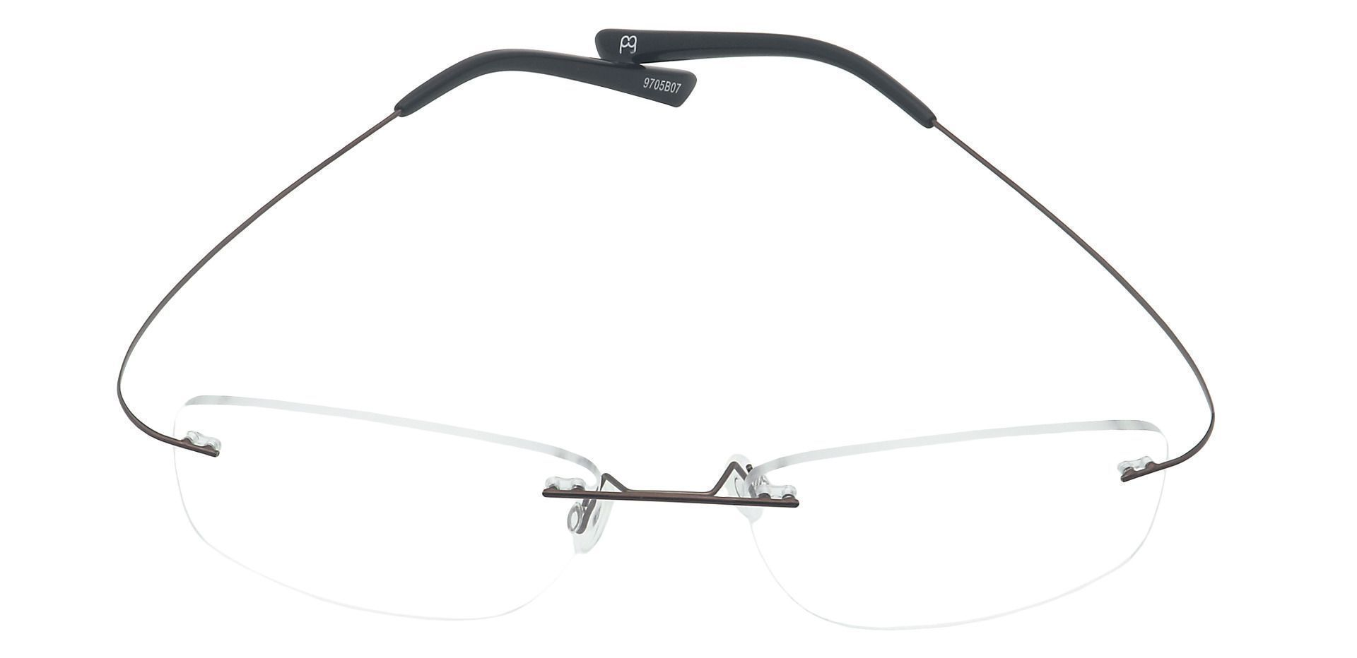 Jennie Rimless Progressive Glasses - Brown