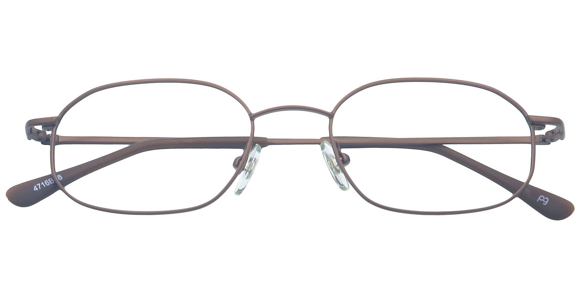 Parker Oval Progressive Glasses - Brown