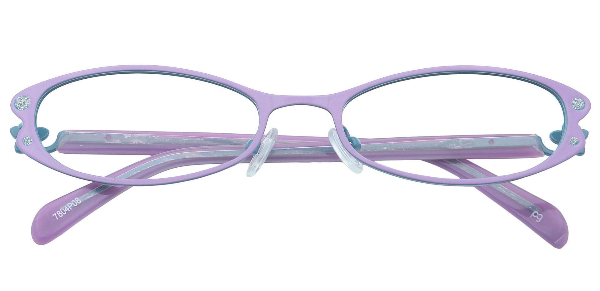Pearl Cat-Eye Non-Rx Glasses - Purple