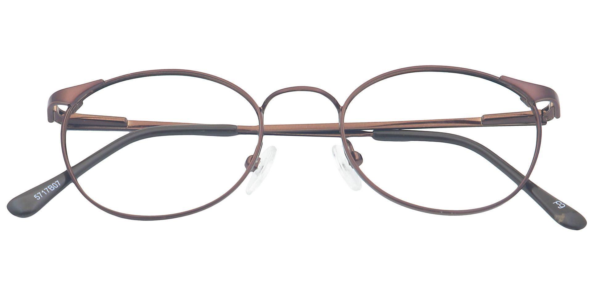 Collen Round Prescription Glasses - Brown