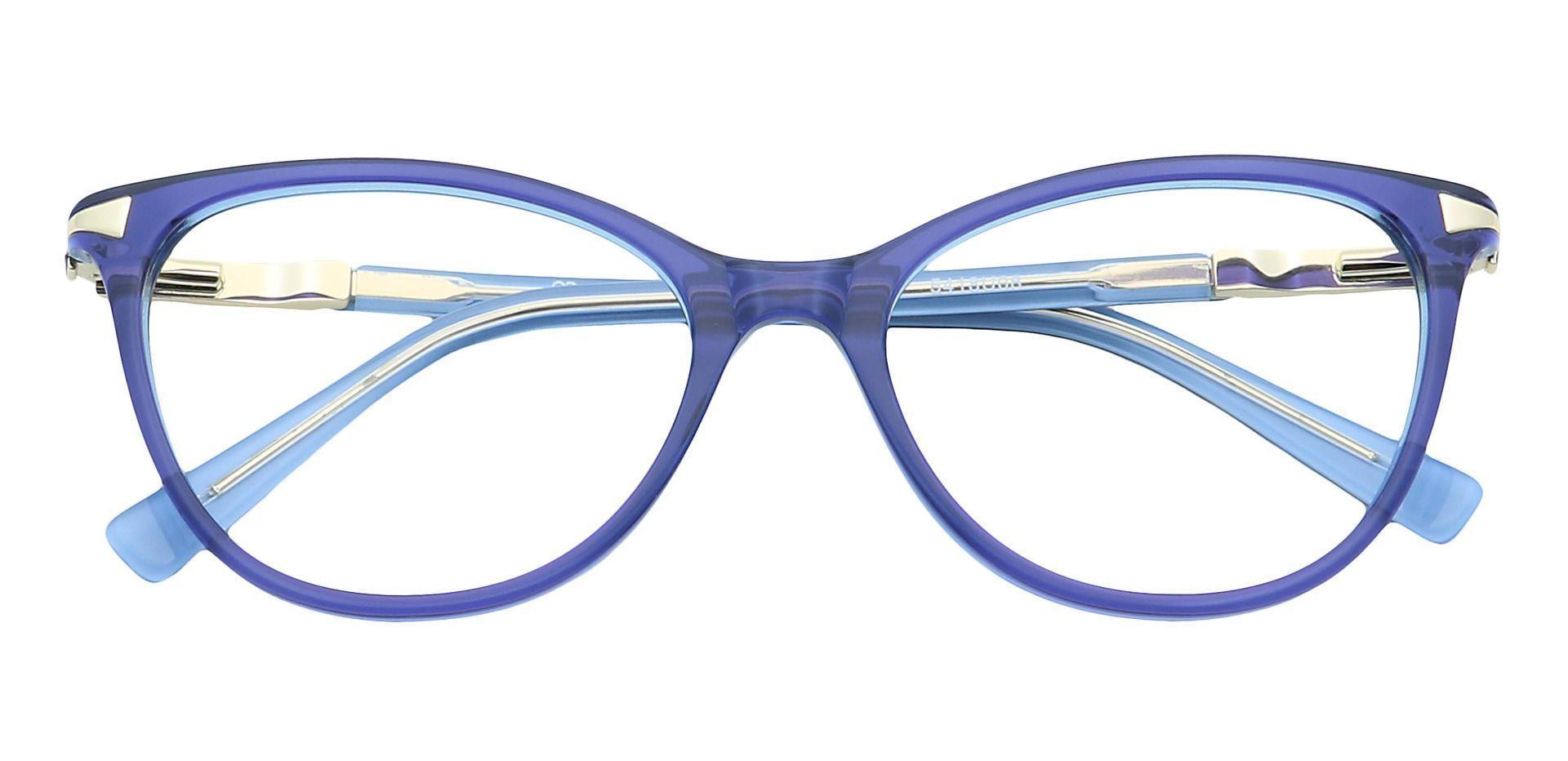 Nona Round Non-Rx Glasses - Blue