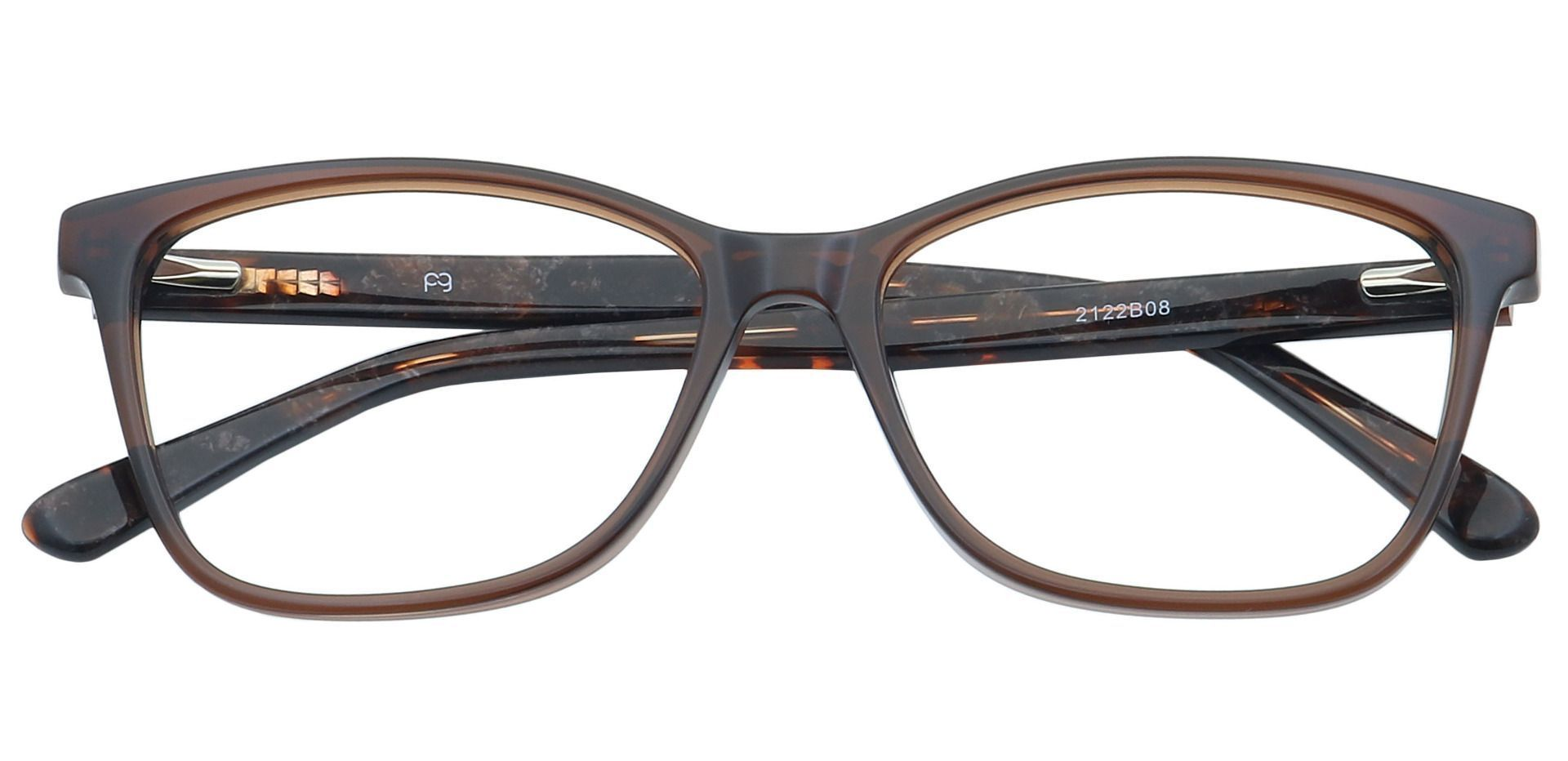 Casper Rectangle Blue Light Blocking Glasses - Brown