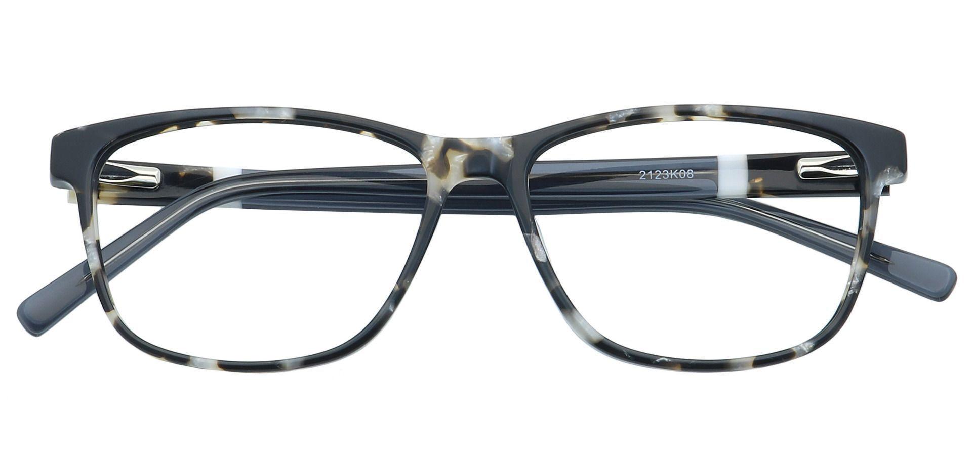 Denni Rectangle Non-Rx Glasses - Black