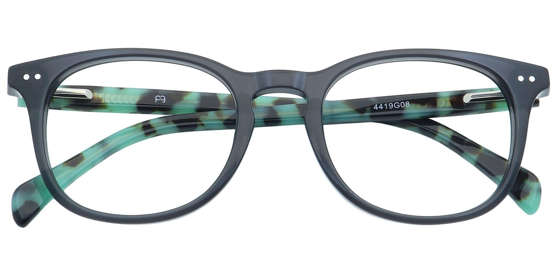 Marble Oval Prescription Glasses - Gray
