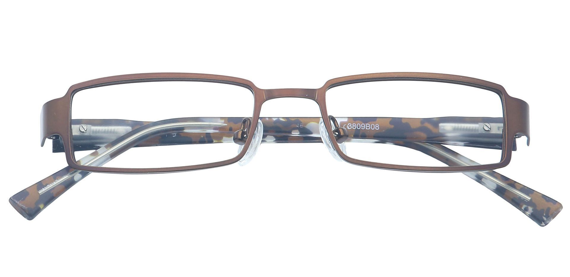 Ramsey Rectangle Reading Glasses - Brown