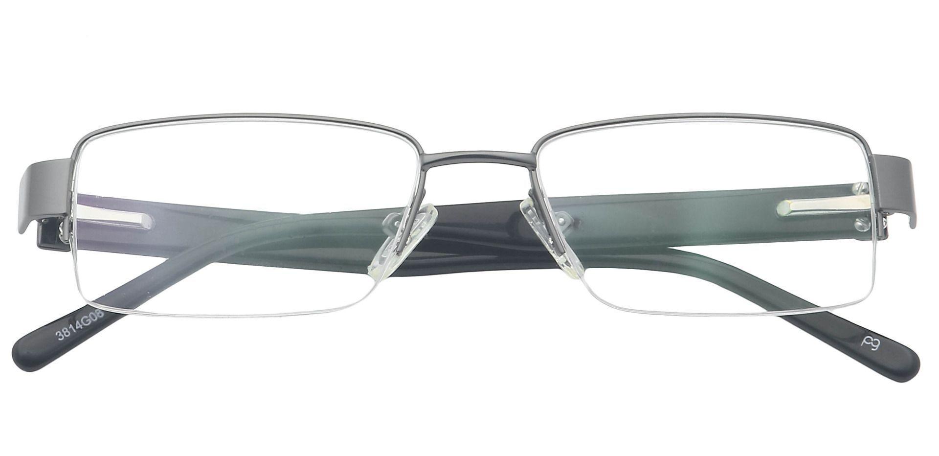 Roger Rectangle Blue Light Blocking Glasses - Gray