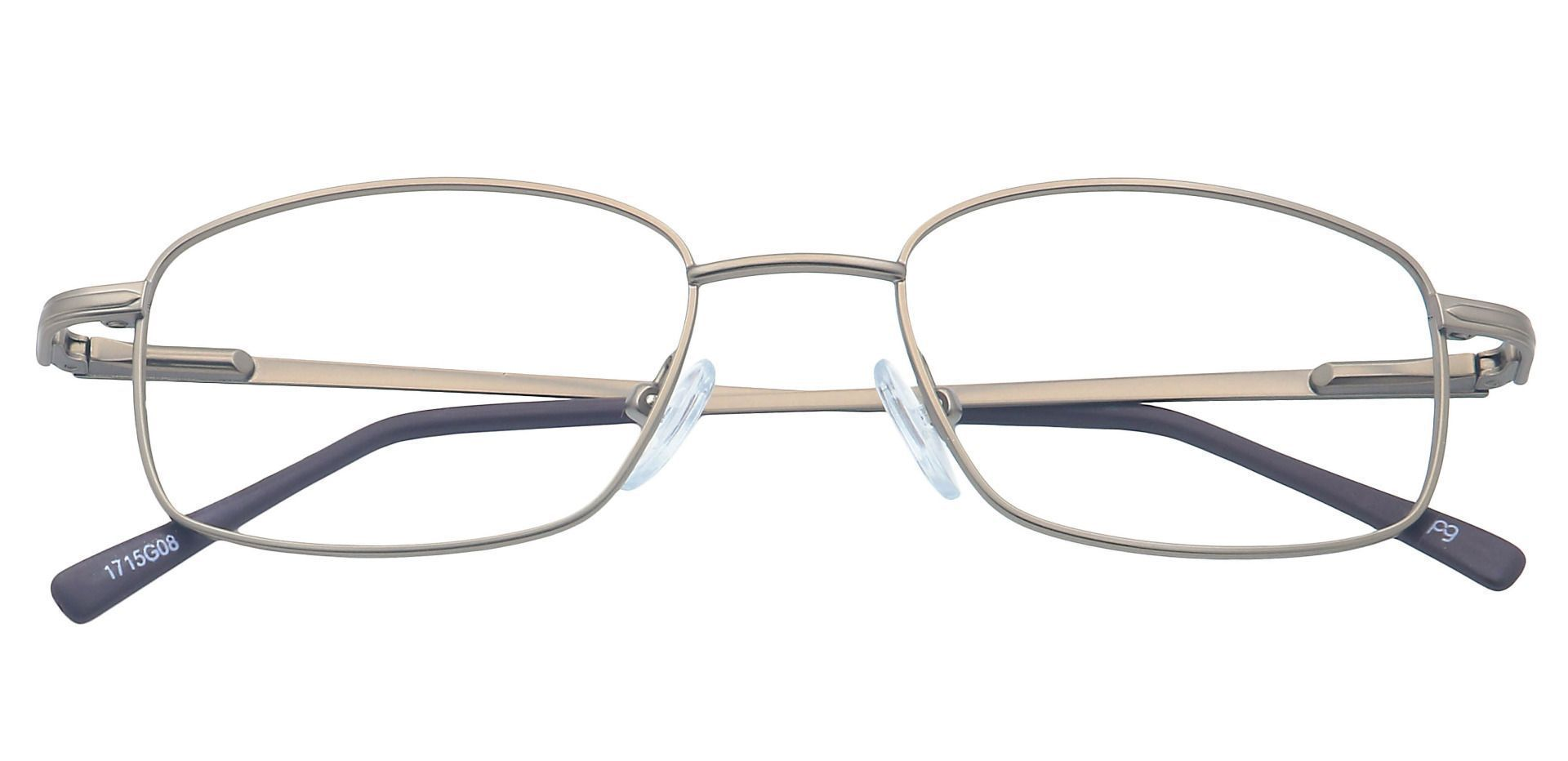 Jared Rectangle Lined Bifocal Glasses - Gray