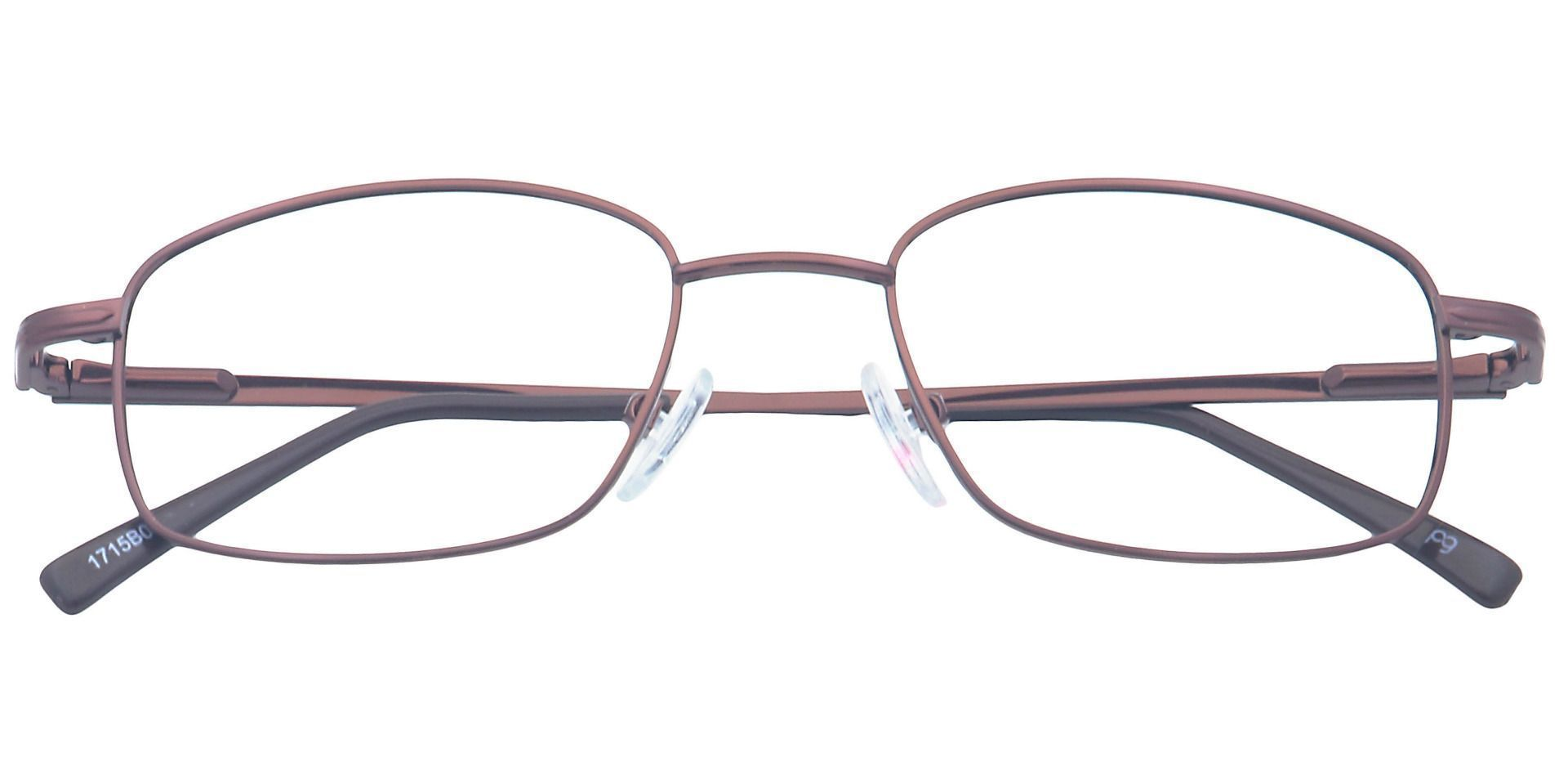 Jared Rectangle Lined Bifocal Glasses - Brown