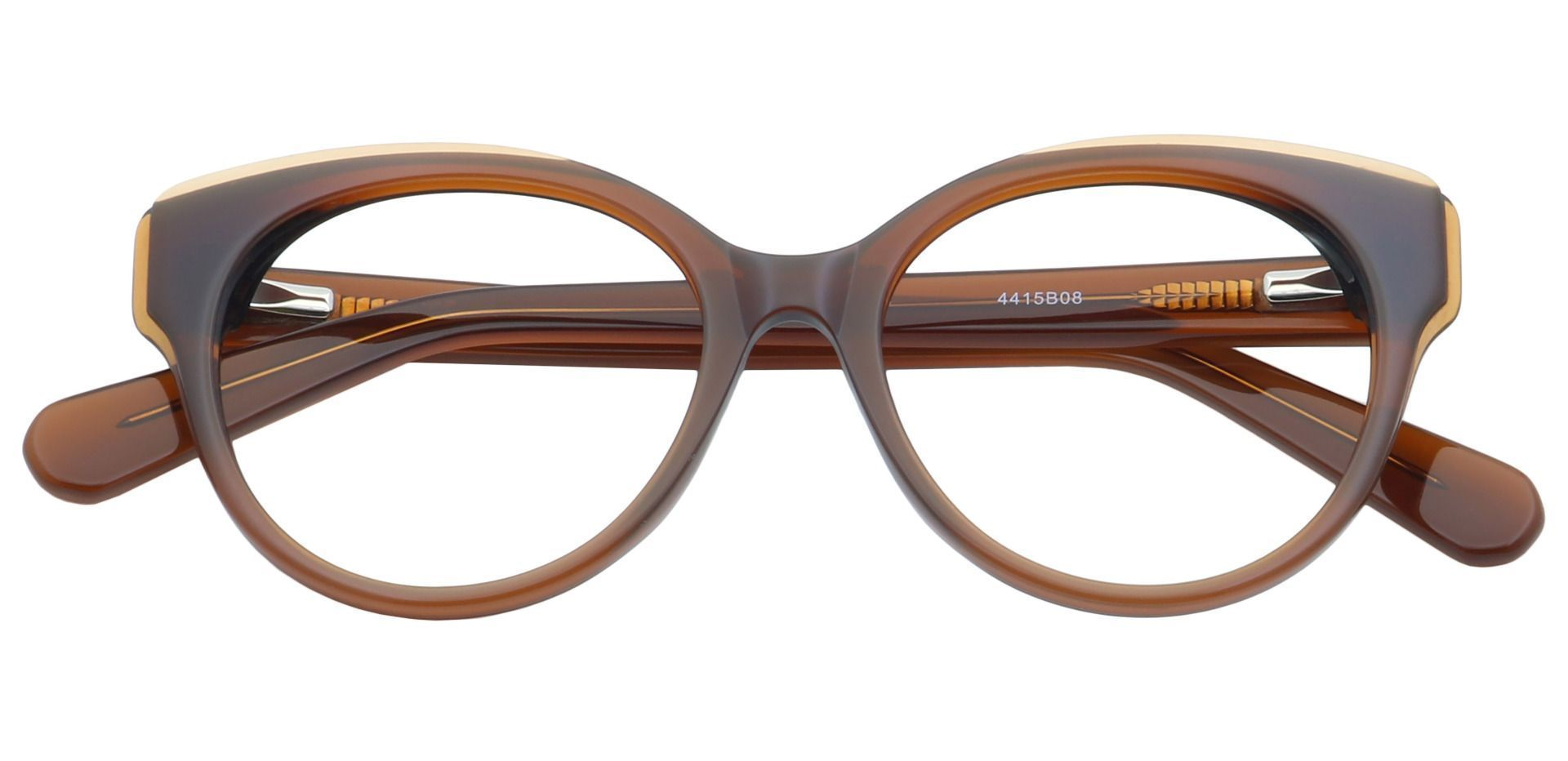 DJ Oval Progressive Glasses - Caramel