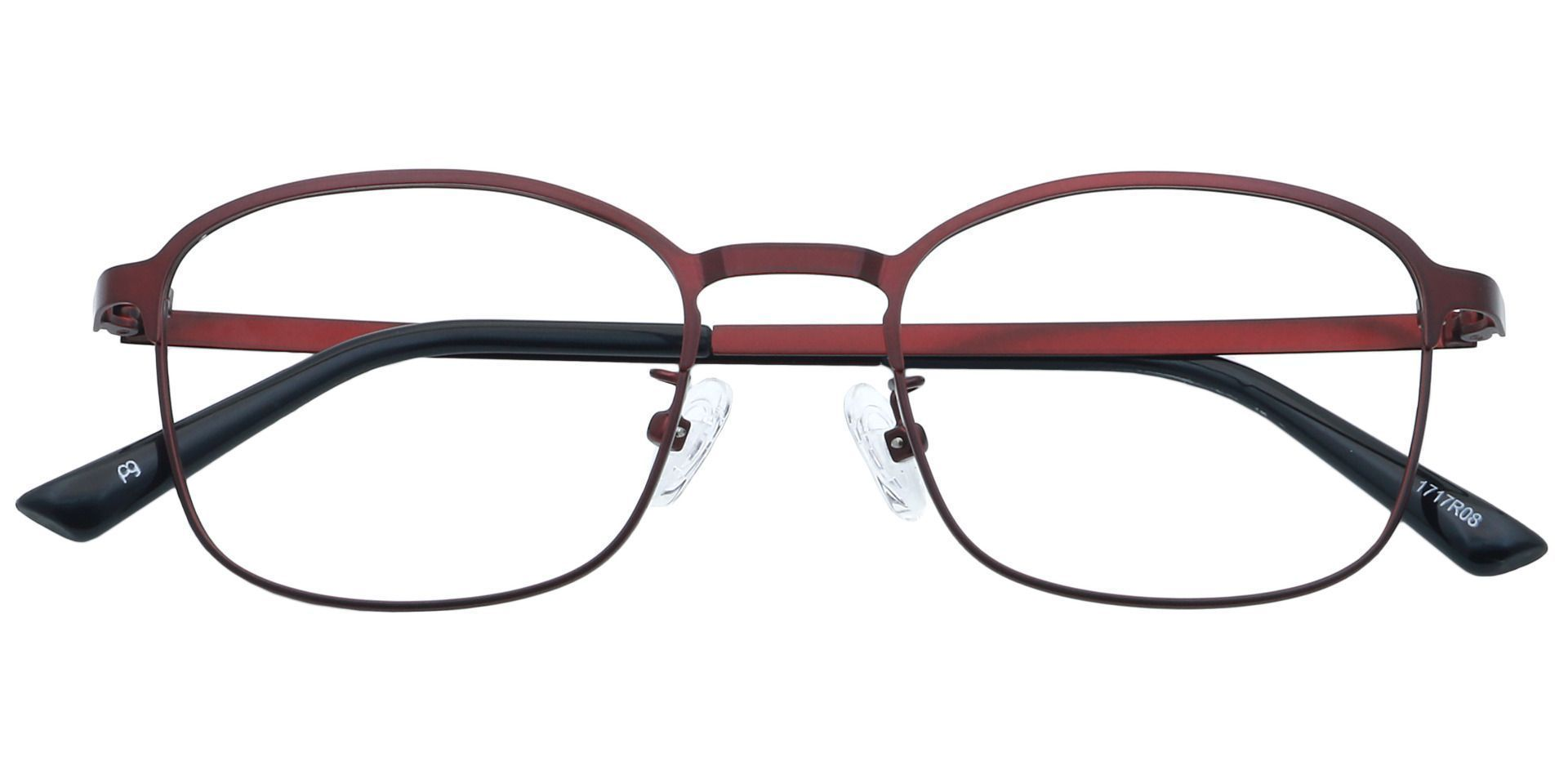 Carmen Square Lined Bifocal Glasses - Red