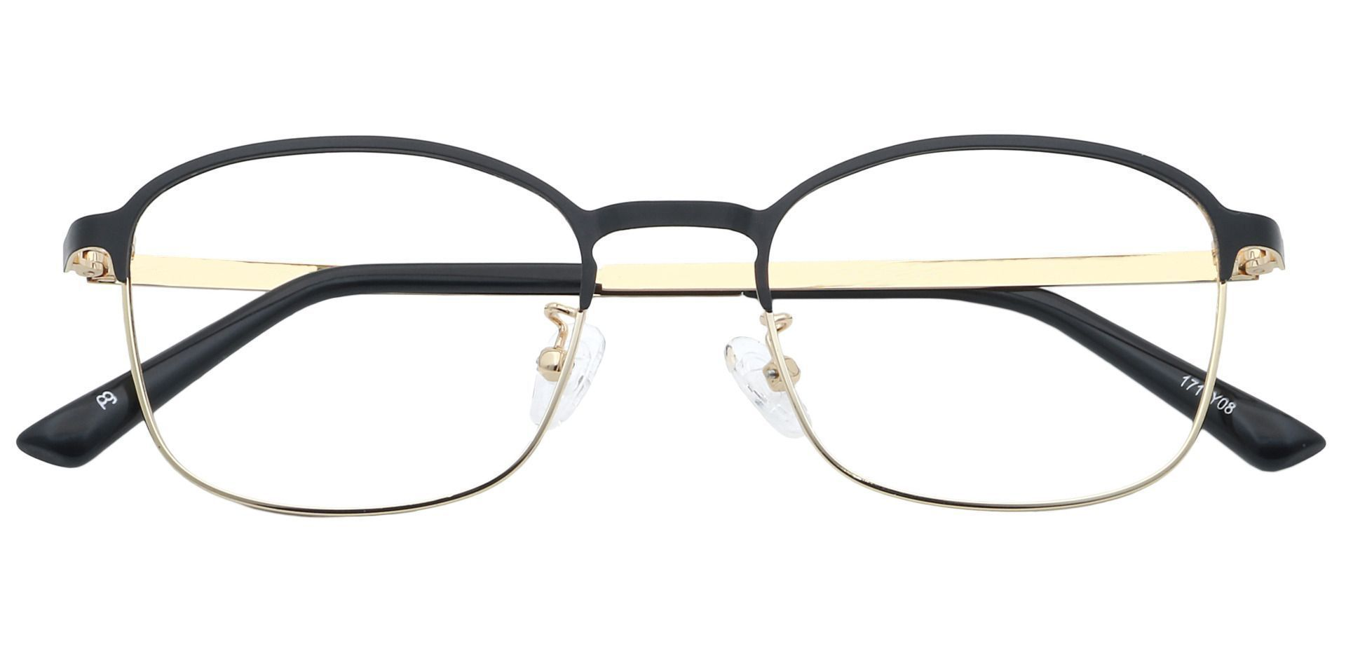Carmen Square Blue Light Blocking Glasses - Gold