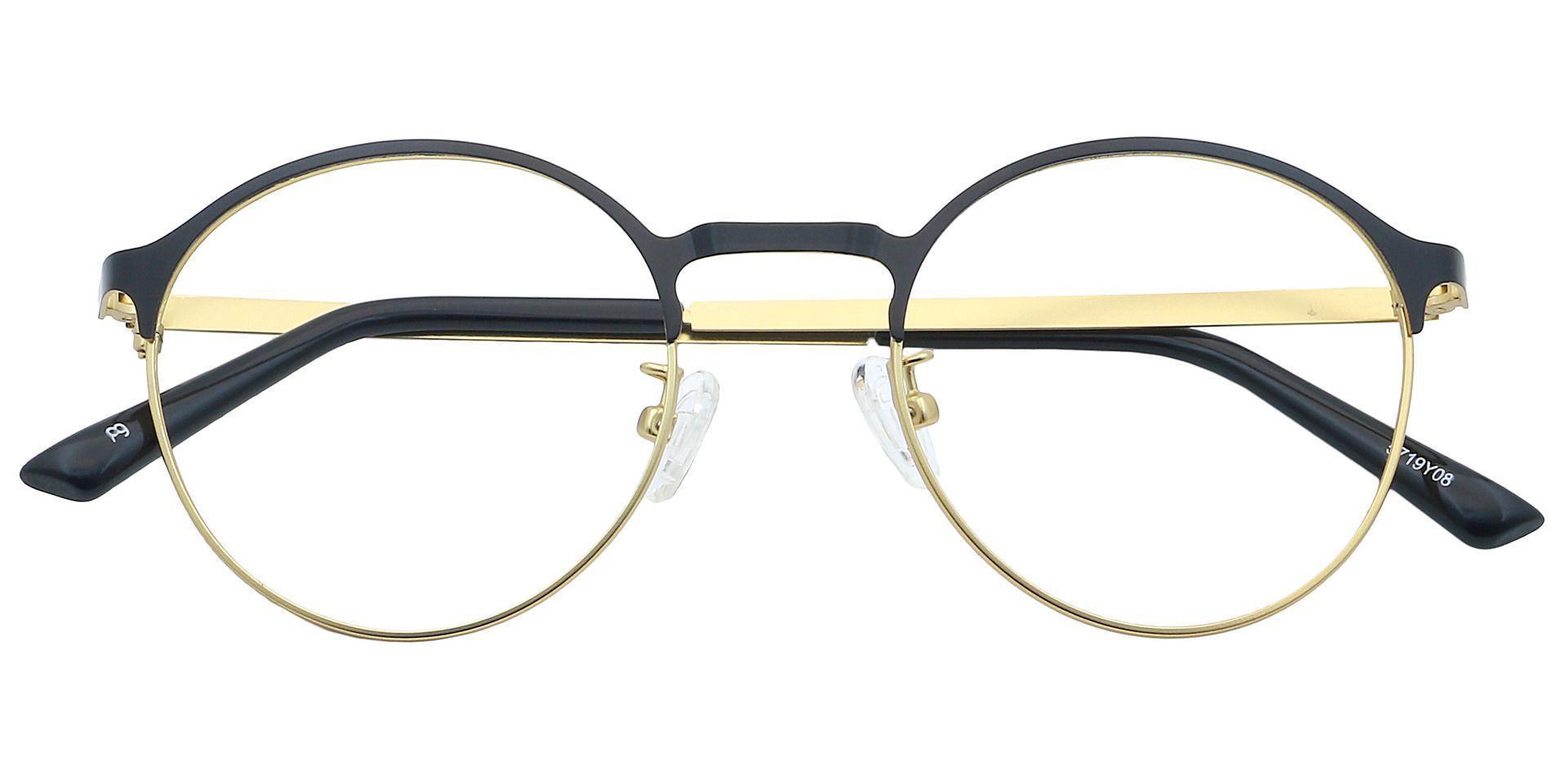 Perry Round Eyeglasses Frame - Yellow