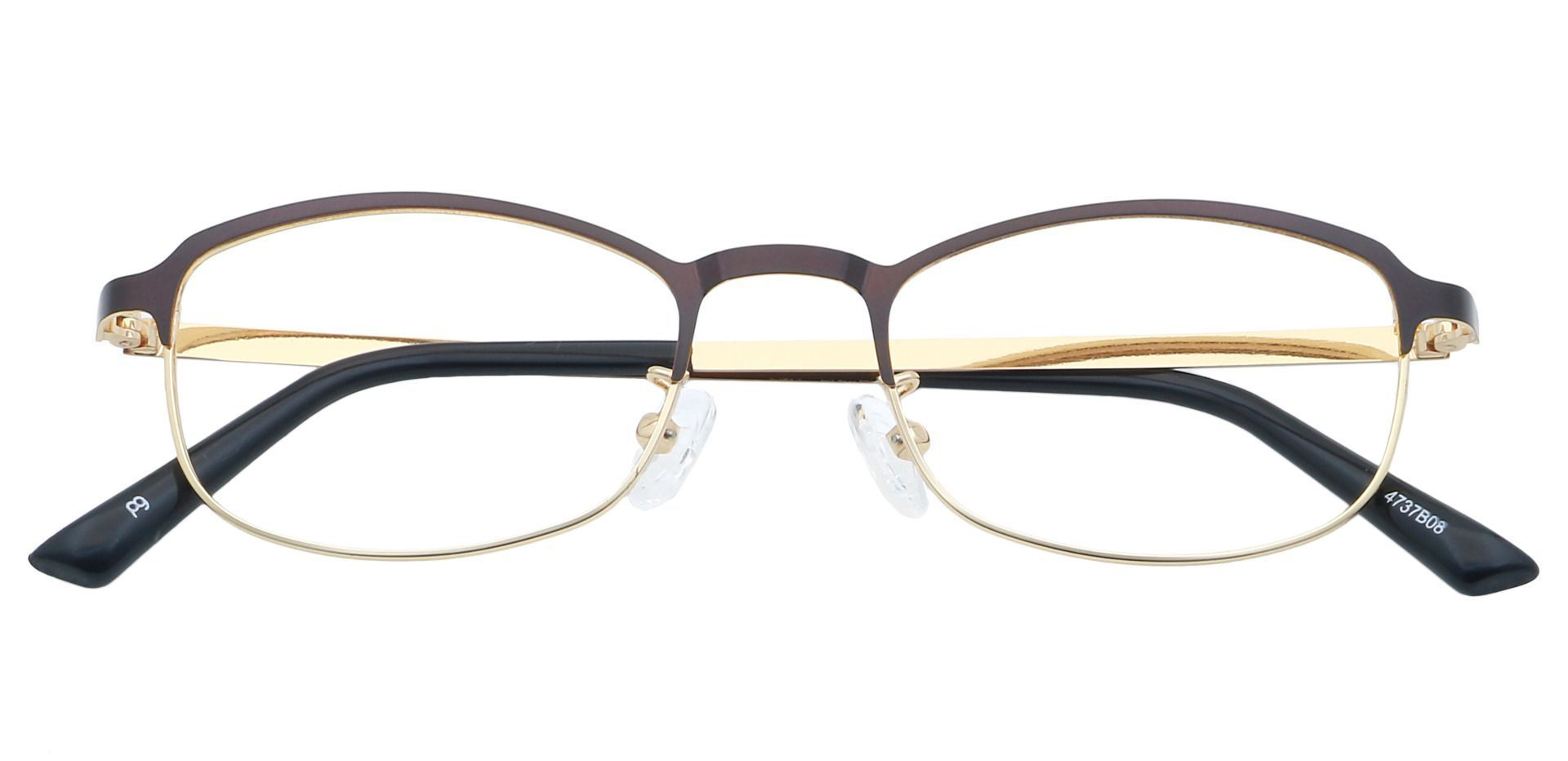 Tyrell Oval Blue Light Blocking Glasses - Brown