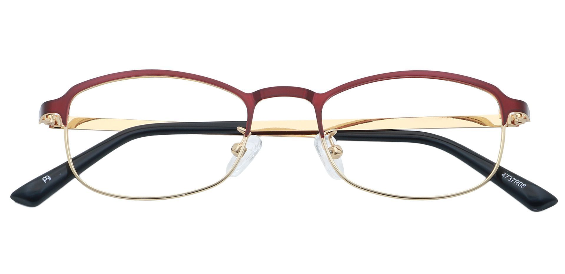 Tyrell Oval Progressive Glasses - Red
