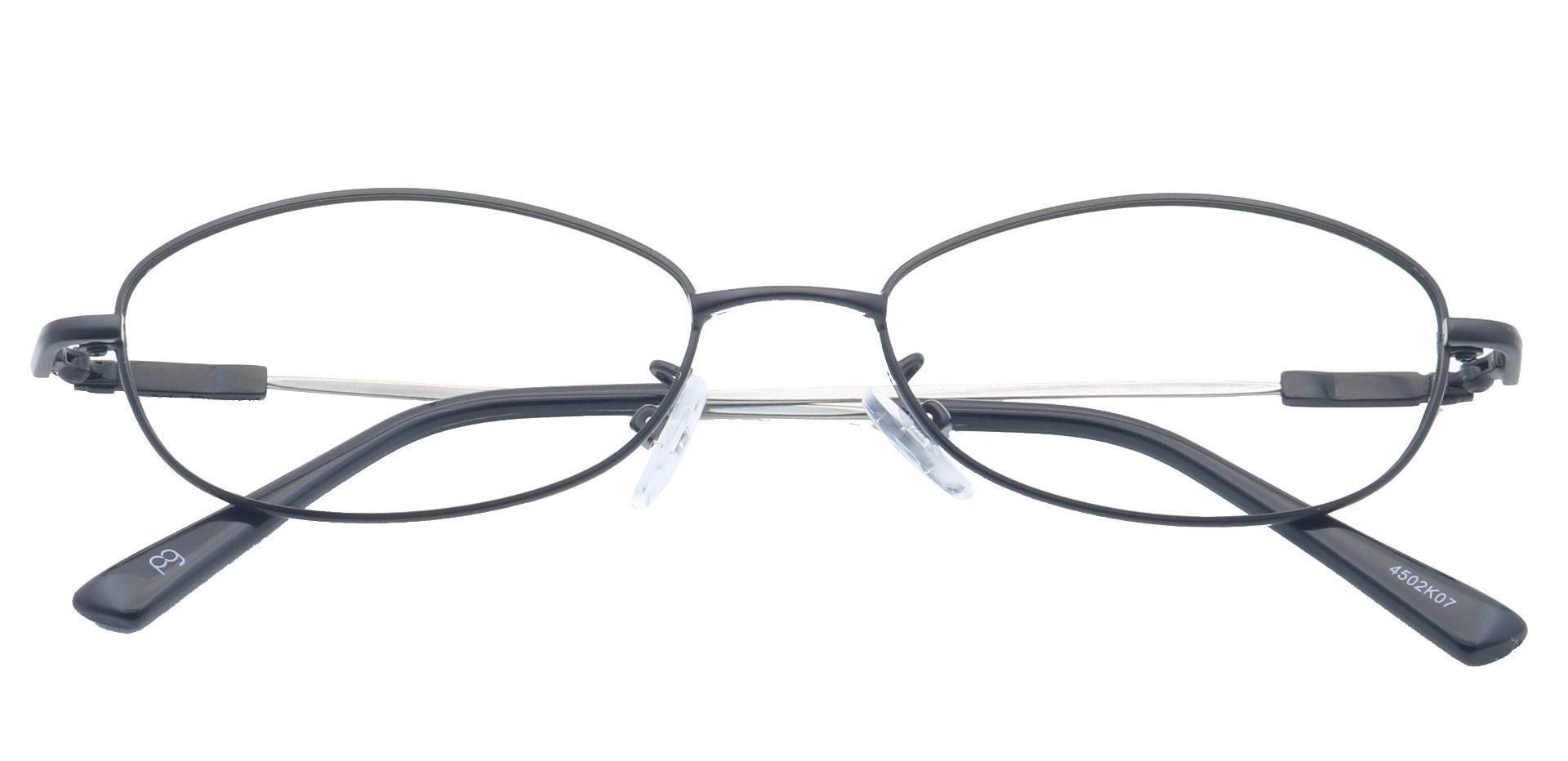 Coronation Oval Single Vision Glasses - Black