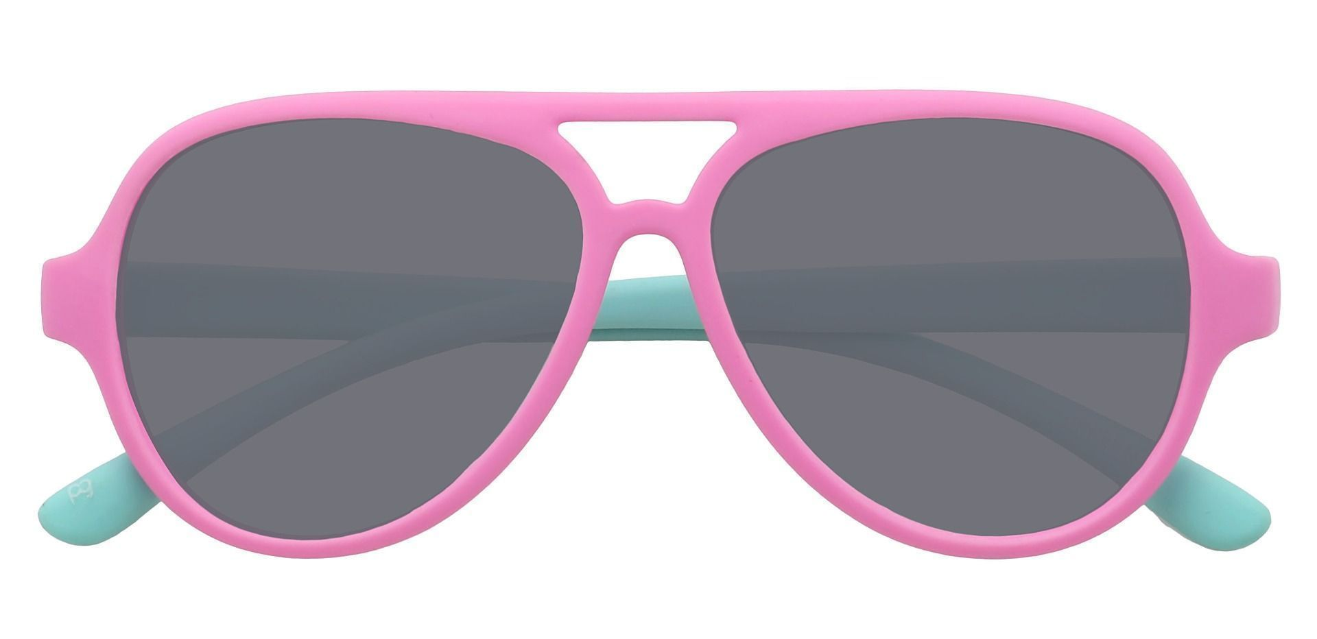 Rookie Aviator Single Vision Sunglasses - Pink Frame With Gray Lenses