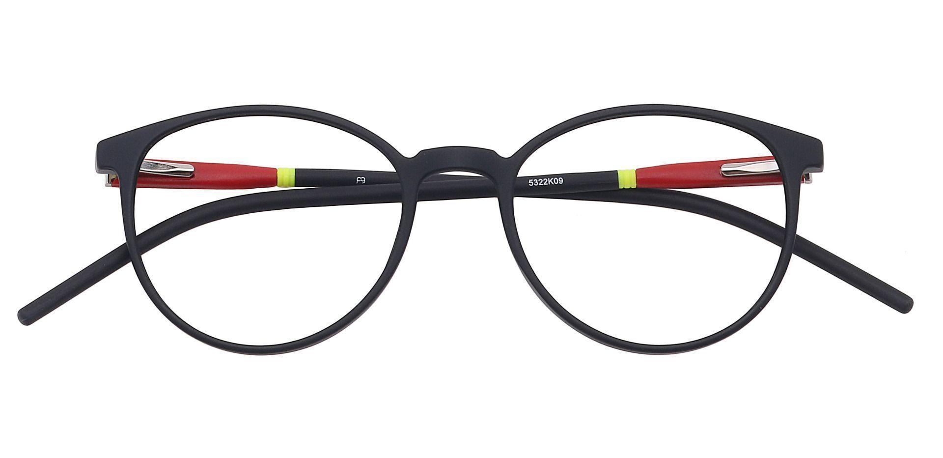 Vivi Round Prescription Glasses - Black