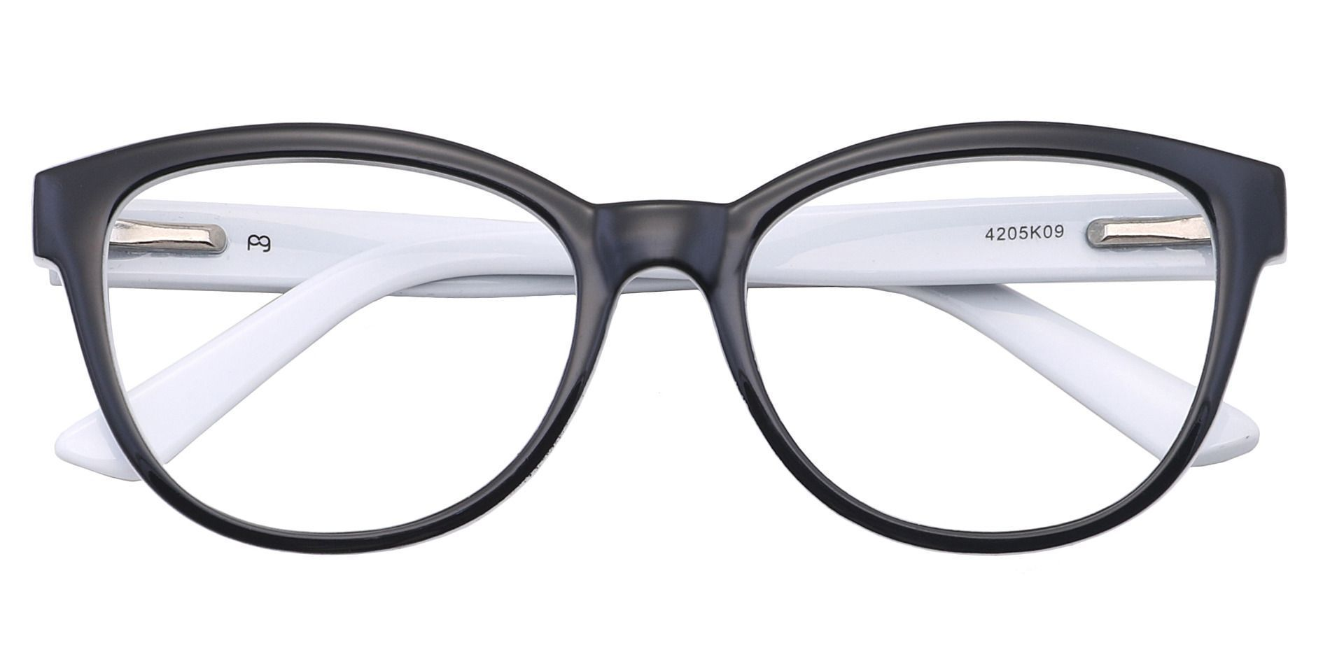 Primrose Oval Blue Light Blocking Glasses - Black