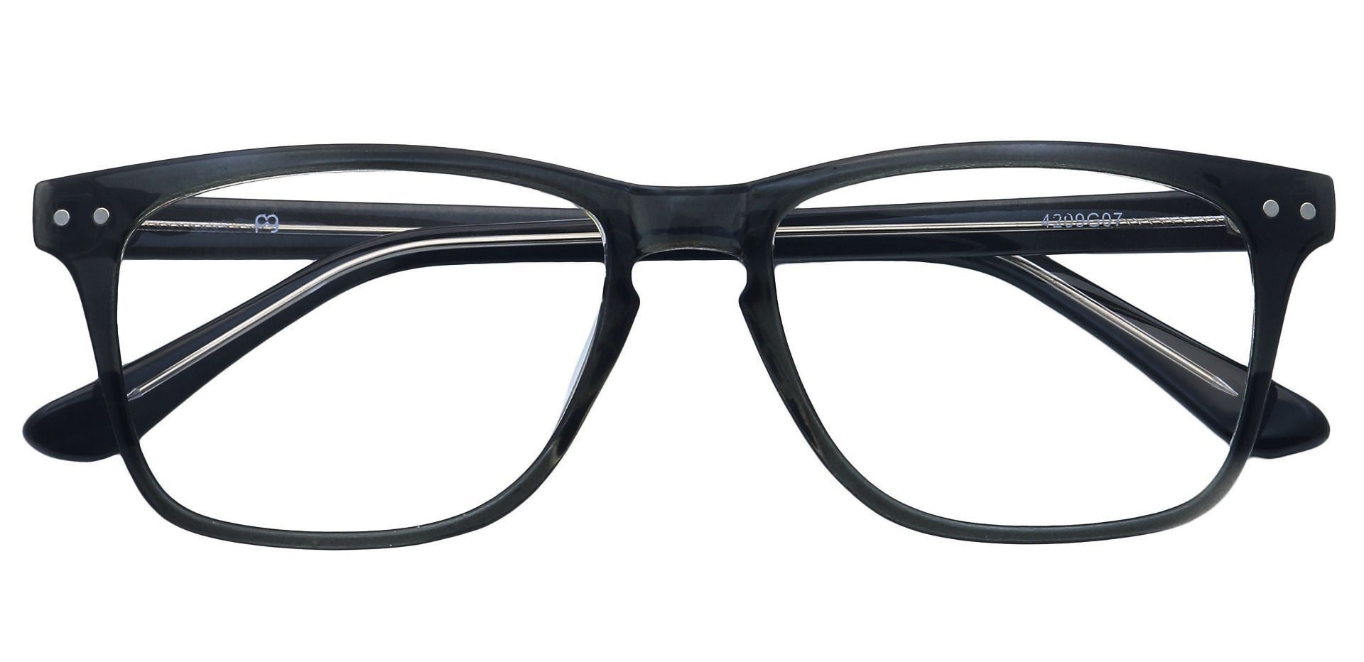 Hope Oval Progressive Glasses - Black