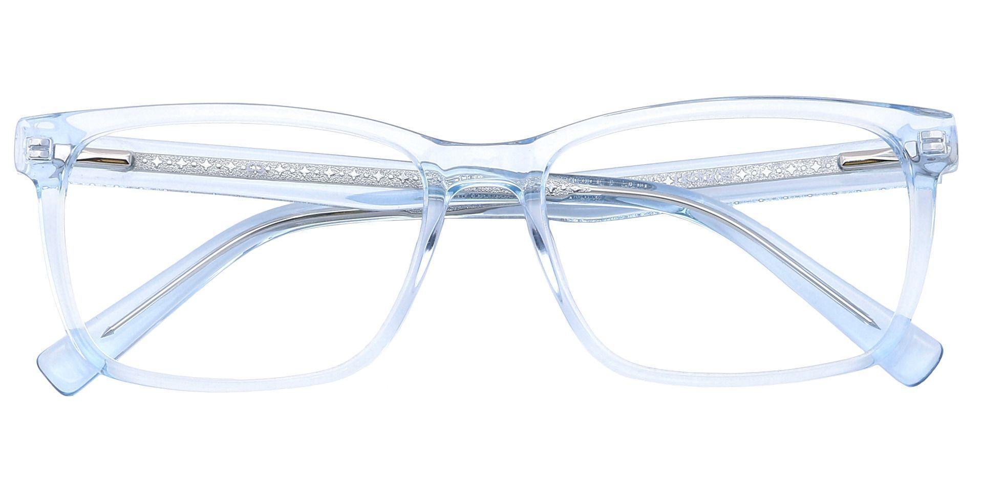 Galaxy Rectangle Non-Rx Glasses - Blue