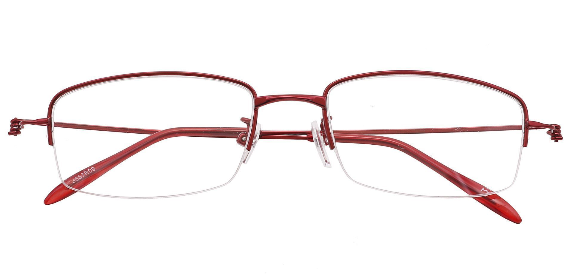 Wyoming Rectangle Prescription Glasses - Red