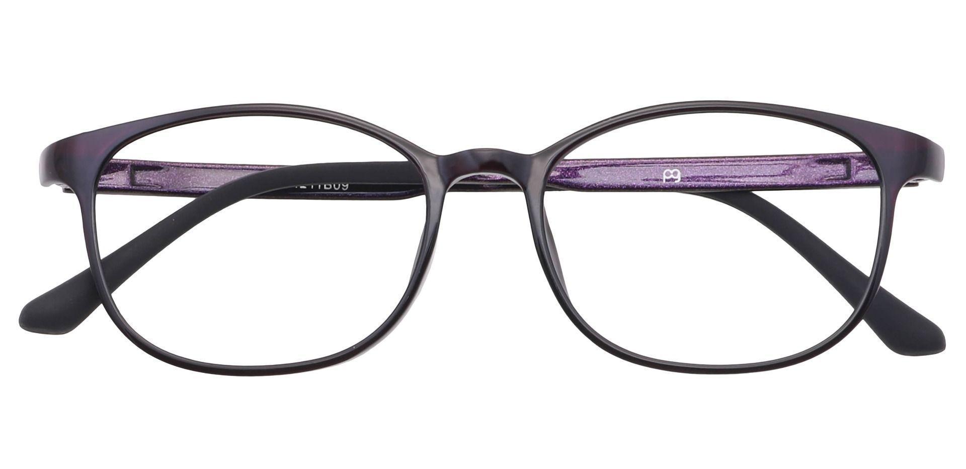 Sherry Oval Prescription Glasses - Purple