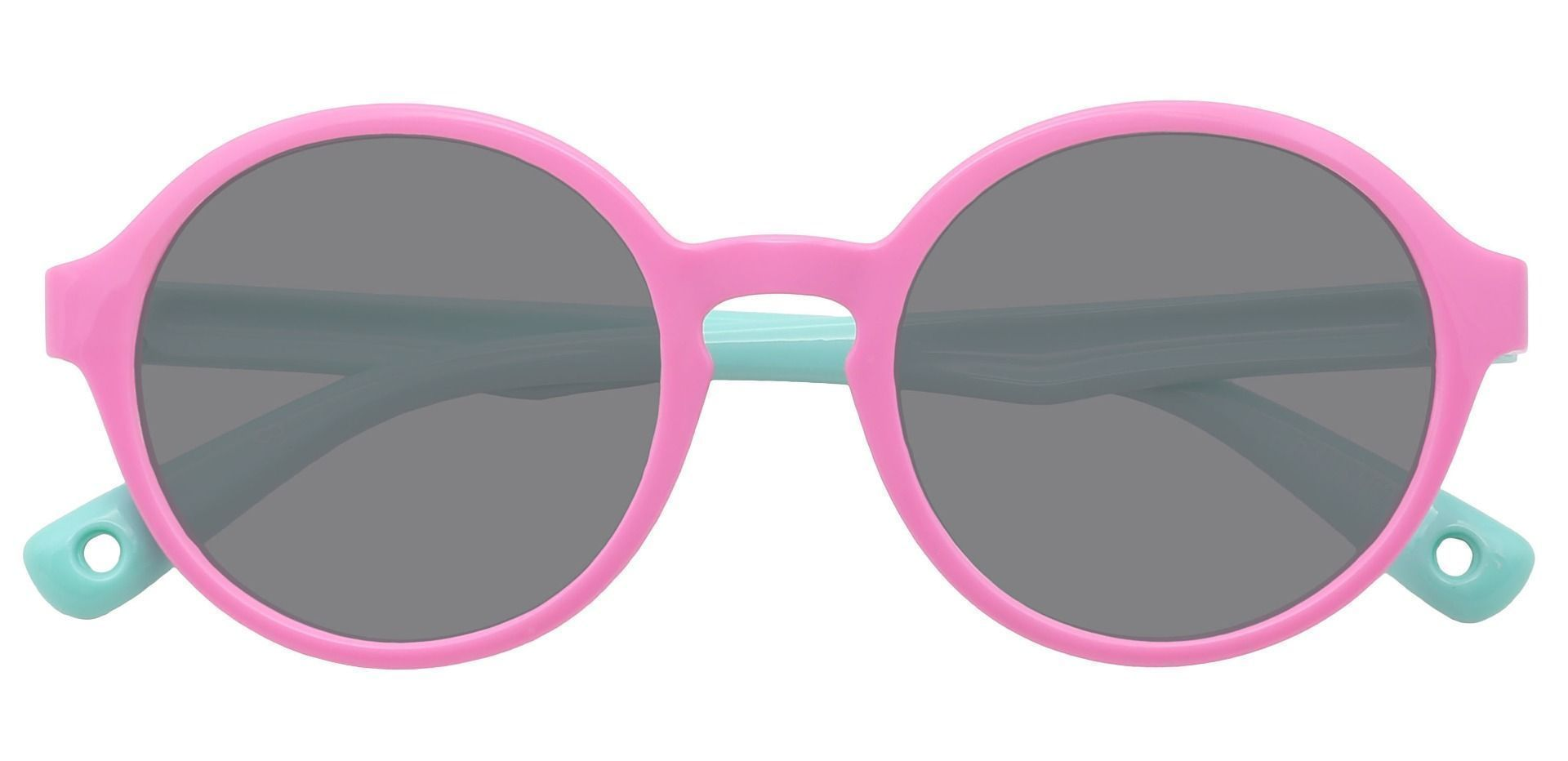 Cotton Candy Round Reading Sunglasses - Pink Frame With Gray Lenses