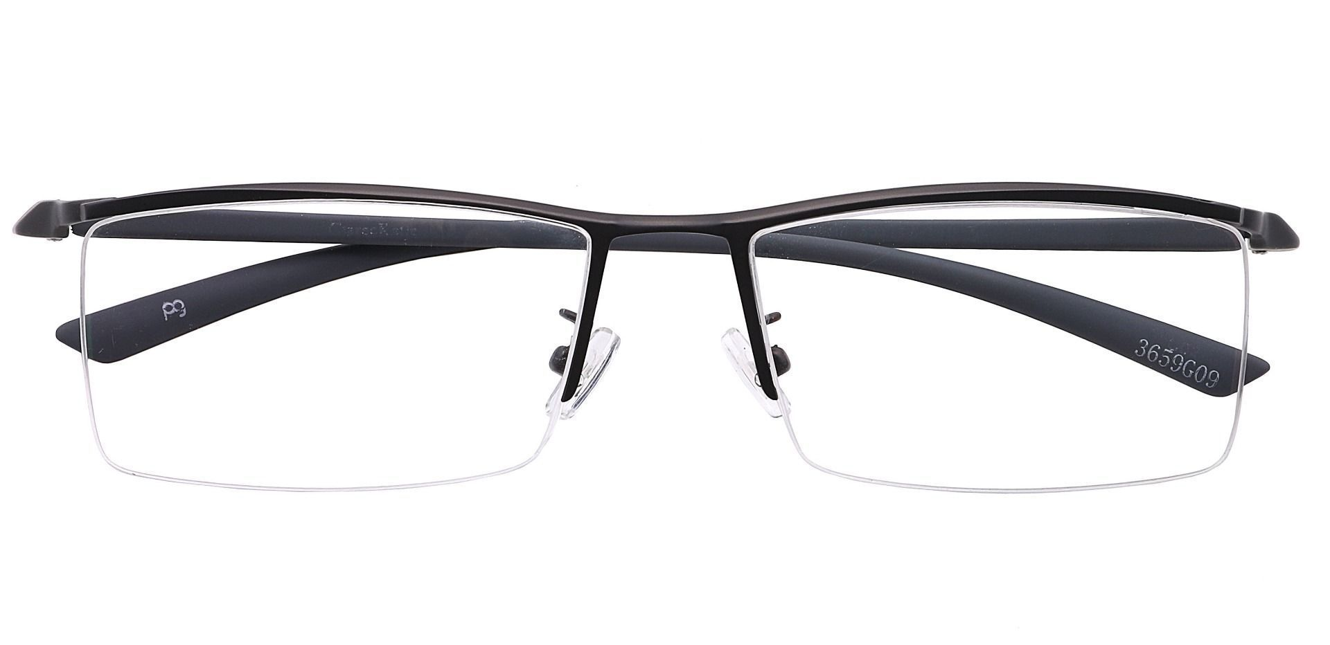 Hunter Rectangle Prescription Glasses - Gray