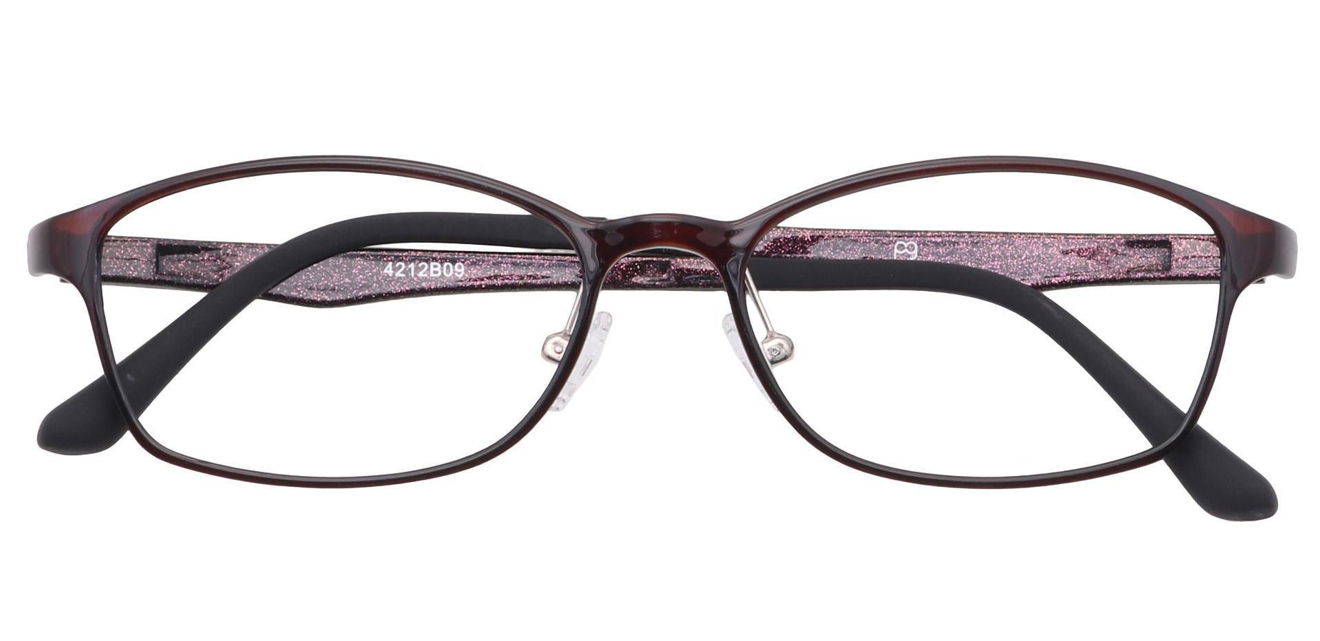 Sloan Oval Prescription Glasses - Dark Purple