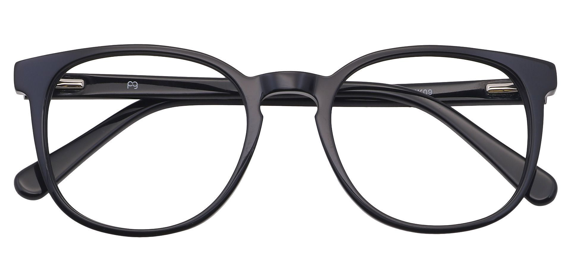 Nebula Round Prescription Glasses - Black