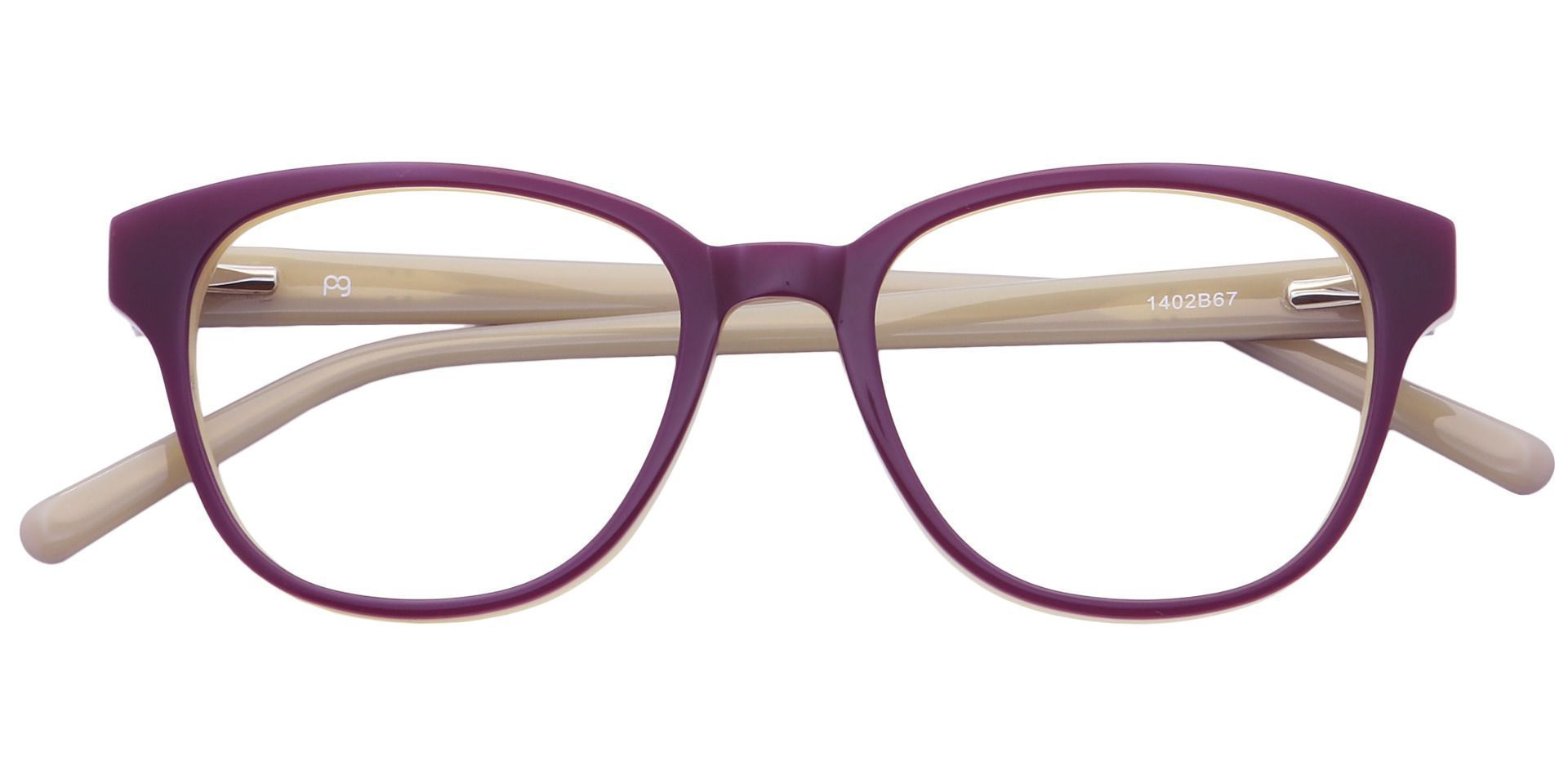 Elan Classic Square Blue Light Blocking Glasses - Purple