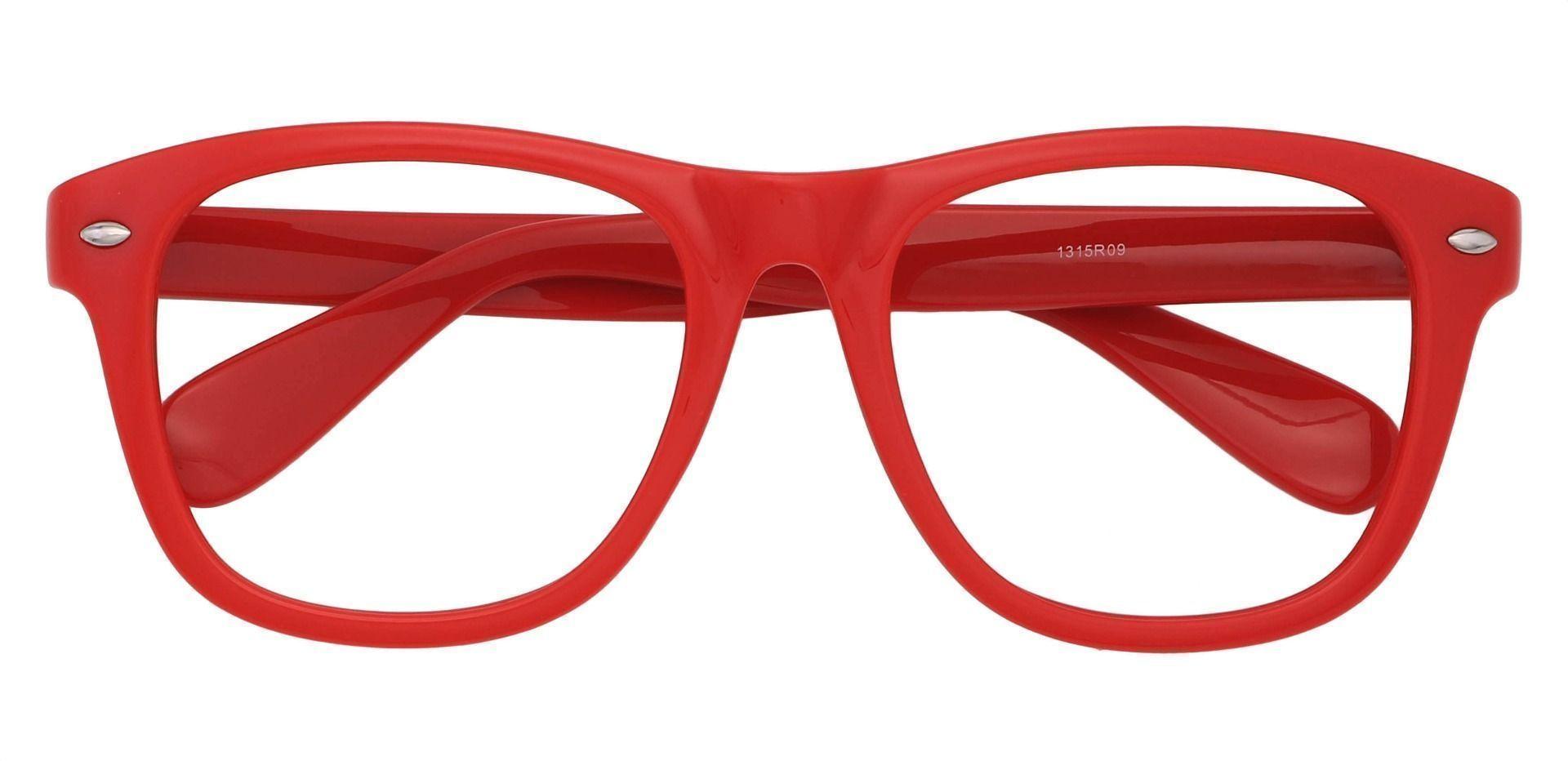Yolanda Square Prescription Glasses - Red