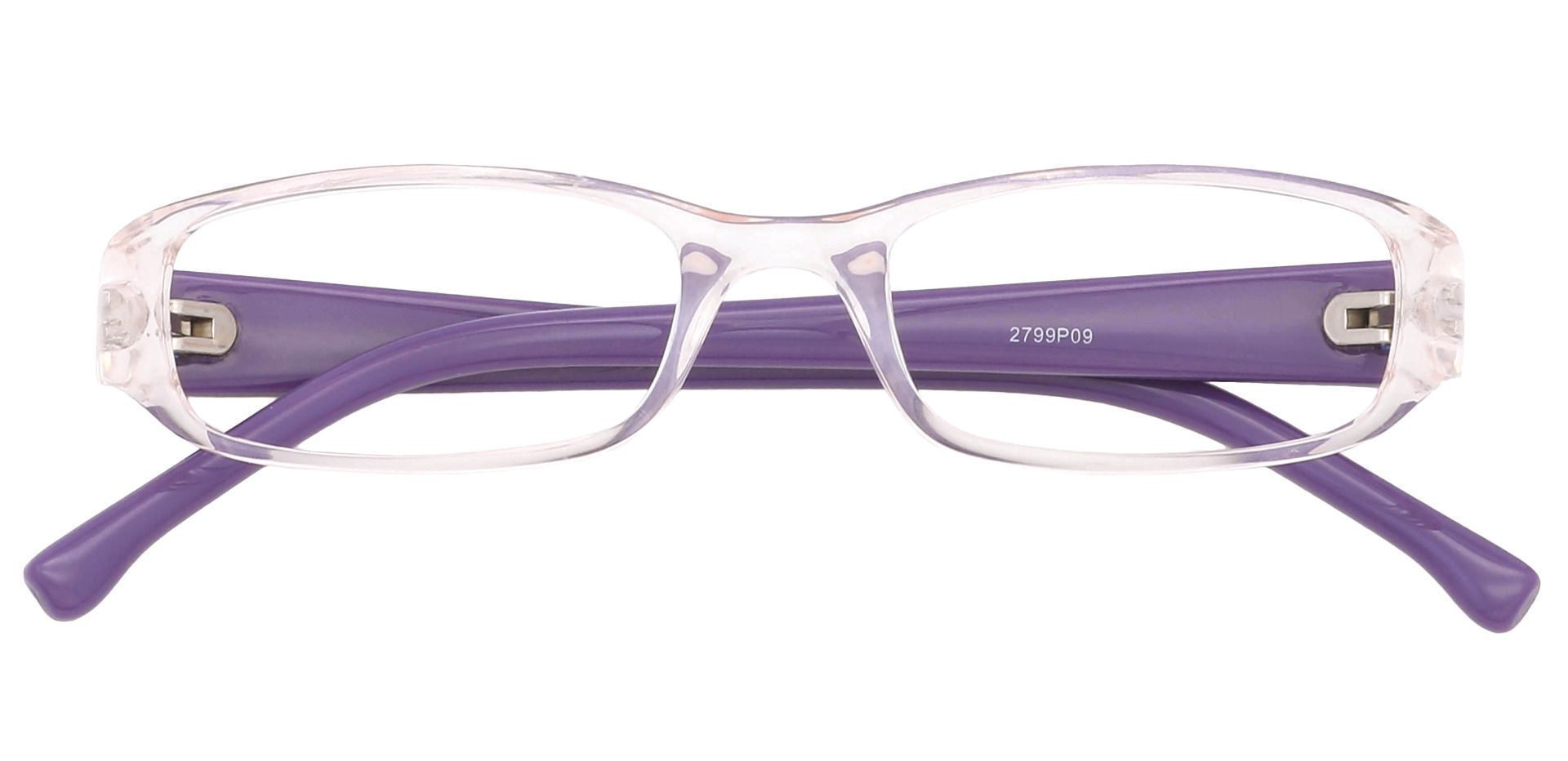 Laurel Rectangle Non-Rx Glasses - Pale Pink Crystal