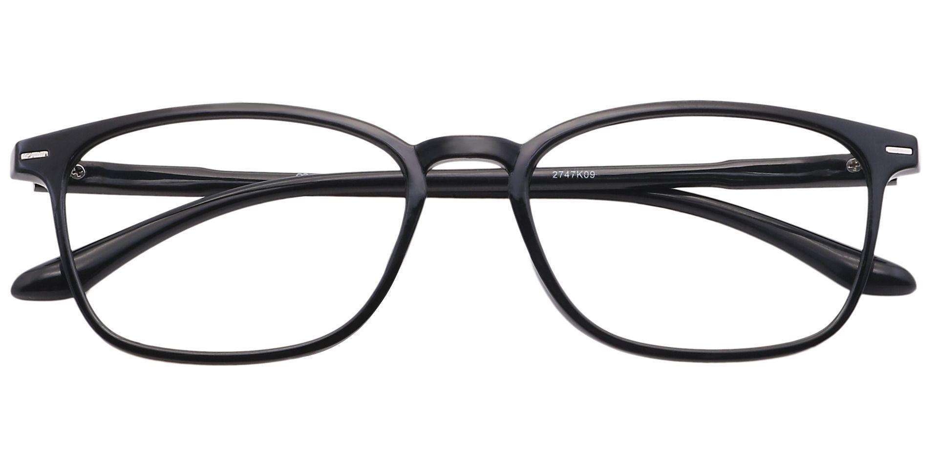 Cabo Oval Prescription Glasses - Black