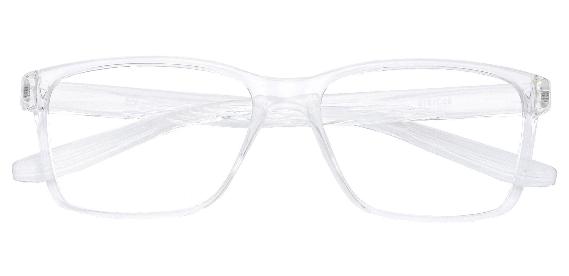 Berlin Rectangle Blue Light Blocking Glasses - Clear