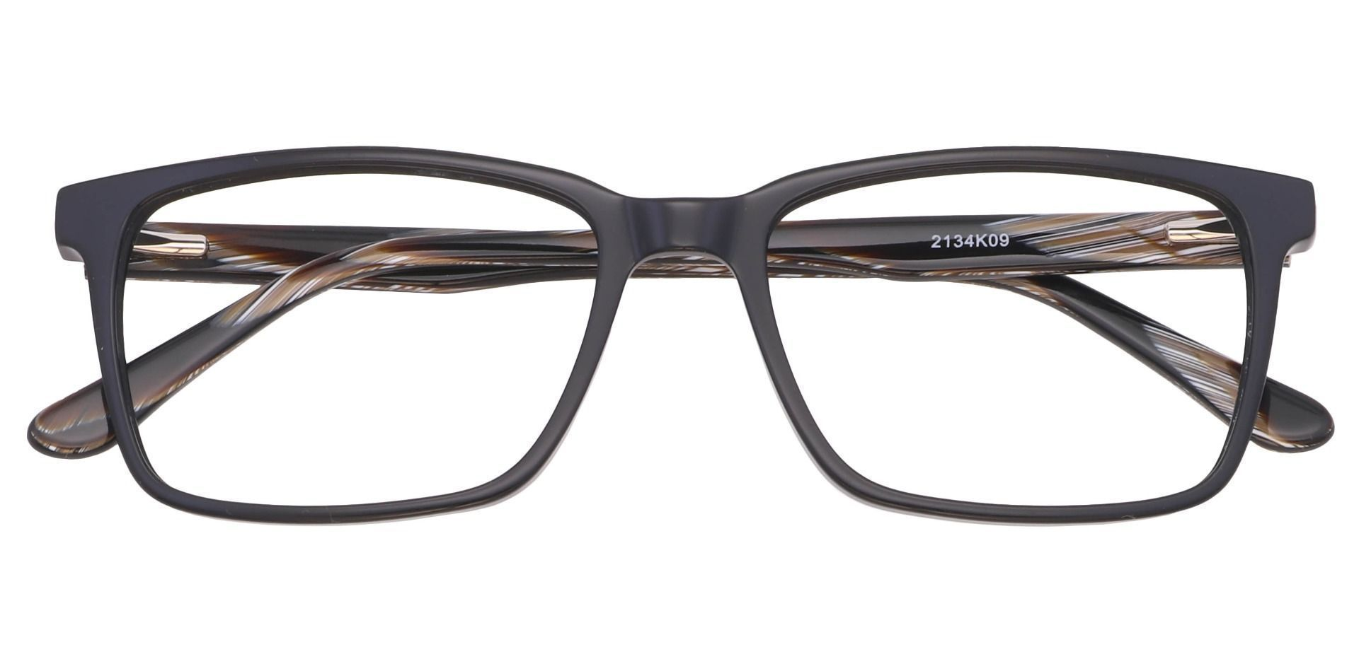 Venice Rectangle Progressive Glasses - Black