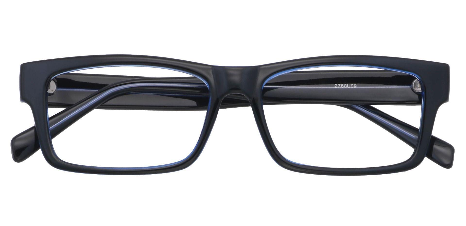 Eclipse Rectangle Prescription Glasses -  Black/blue